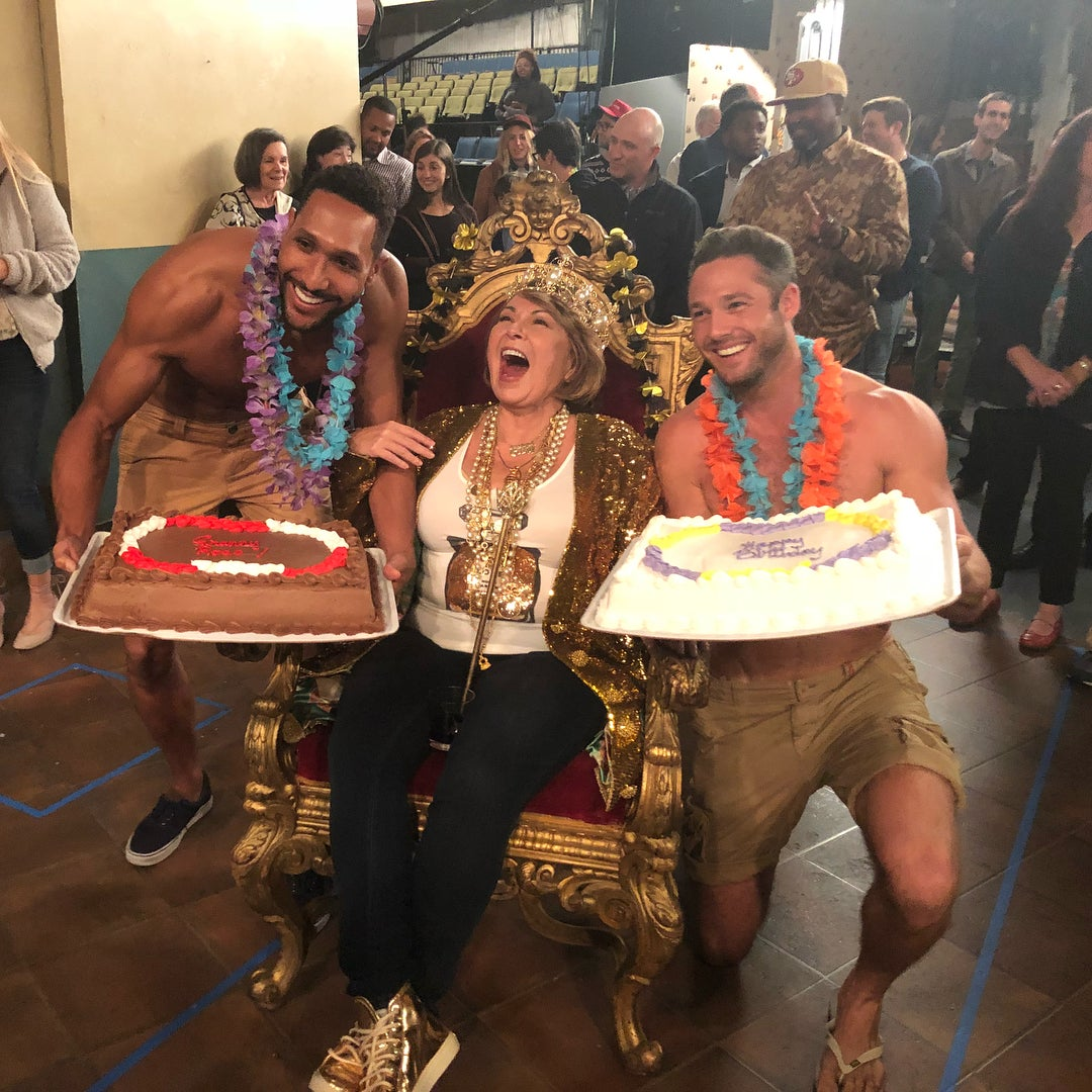 Roseanne Barr Gets The Royal Treatment During On Set