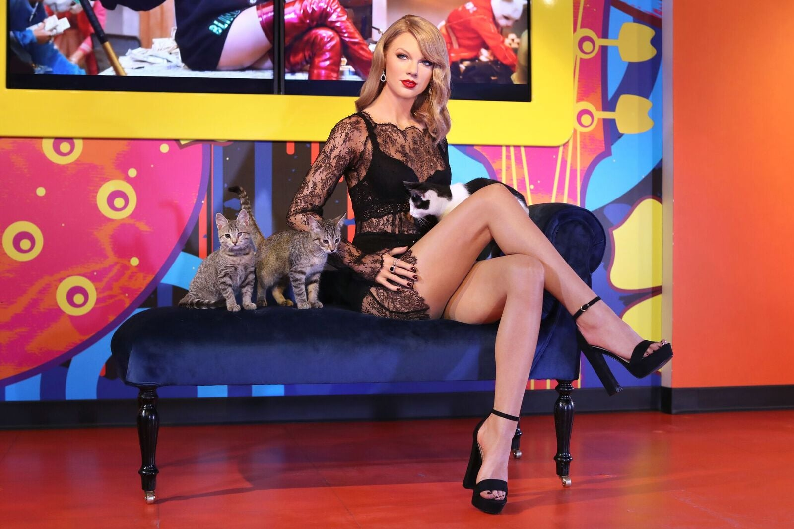 Taylor Swift wax figure at Madame Tussauds San Francisco