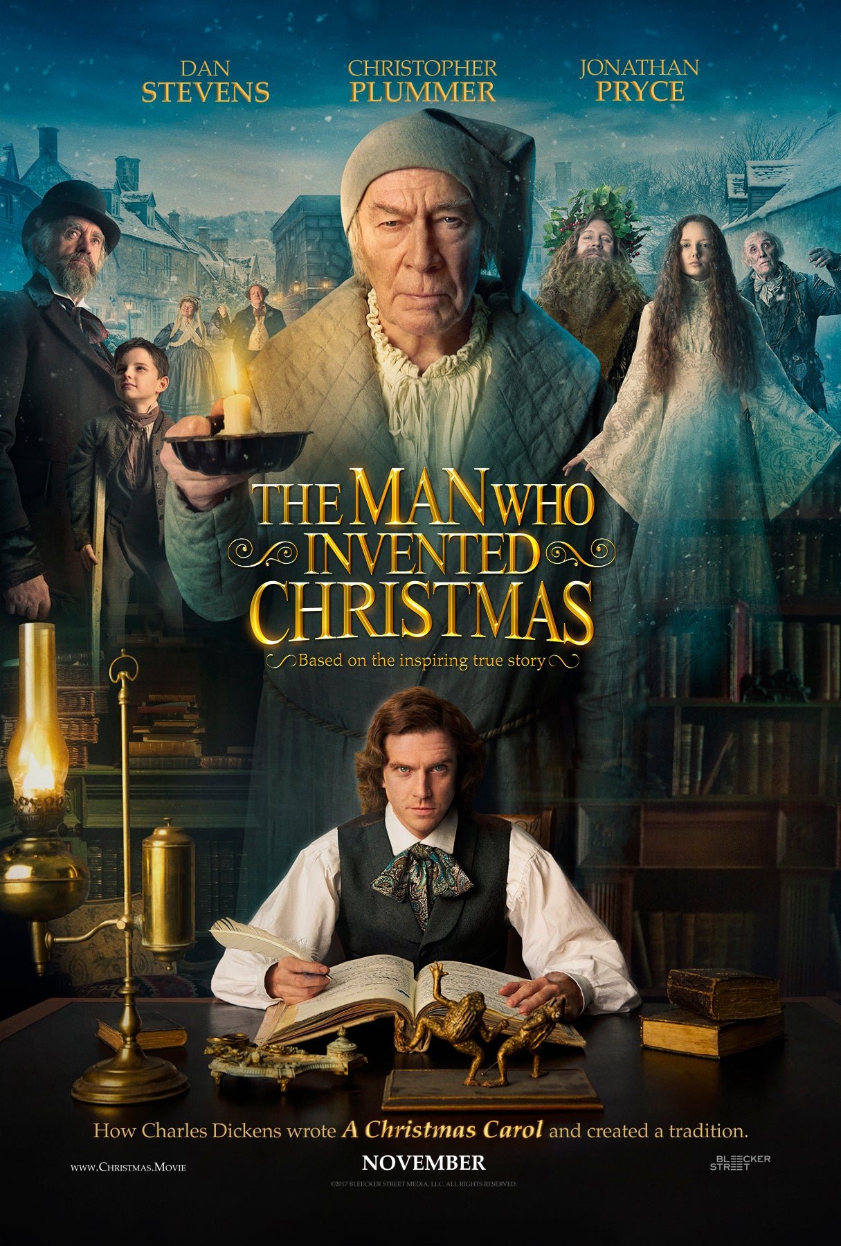 'The Man Who Invented Christmas' Poster