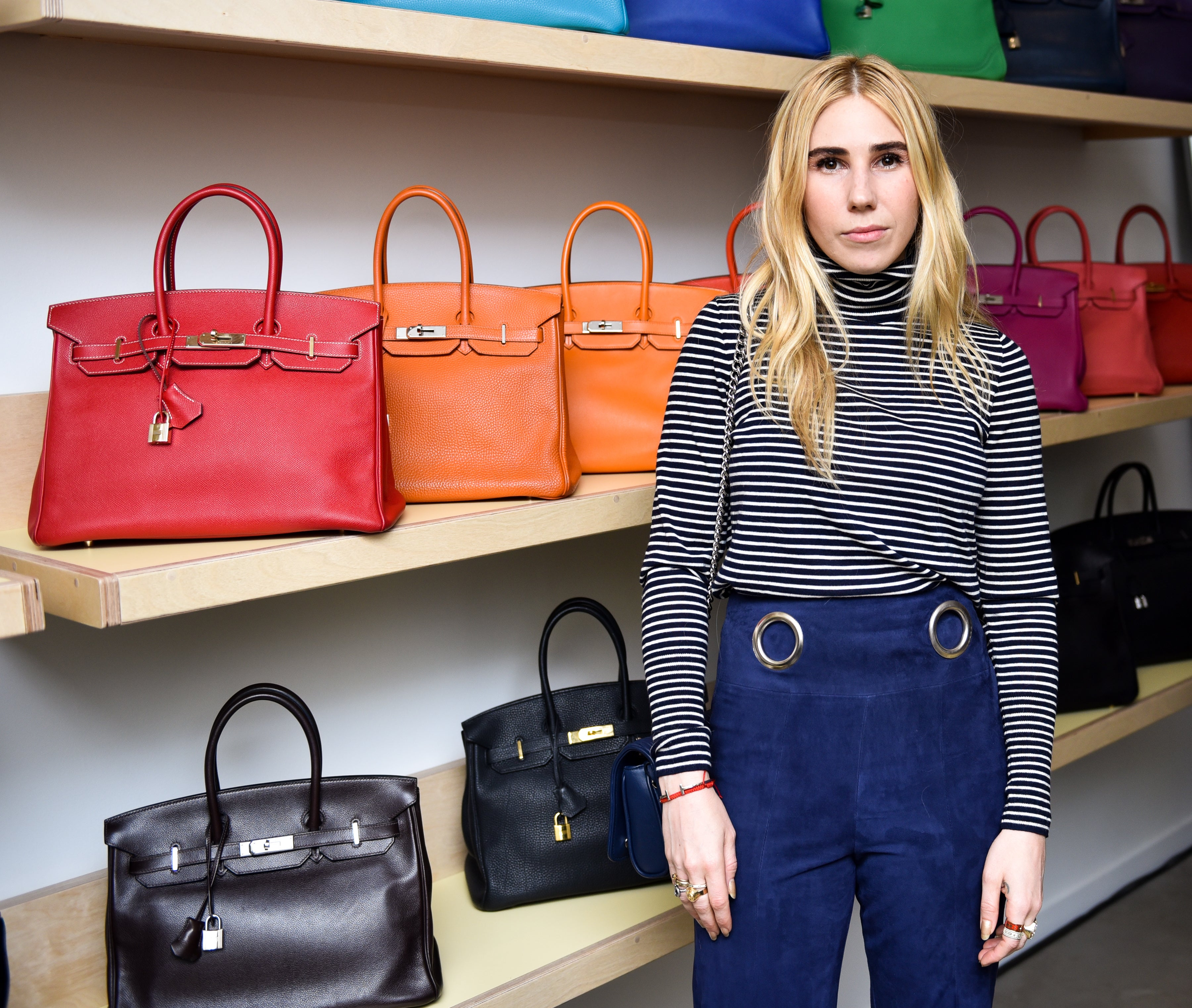 Zosia Mamet at Rebag pop-up launch
