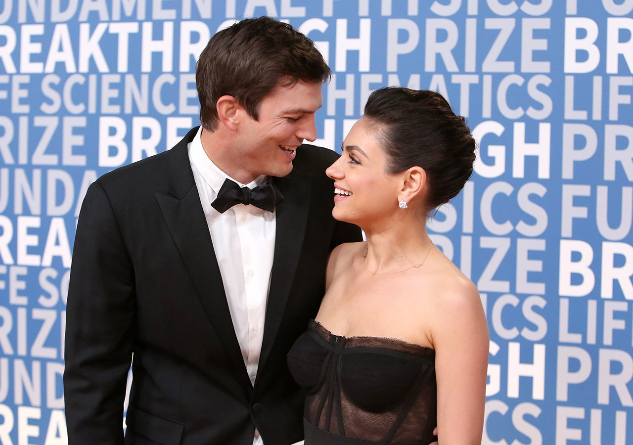 Mila Kunis and Ashton Kutcher Have a Rare Red Carpet Reunion