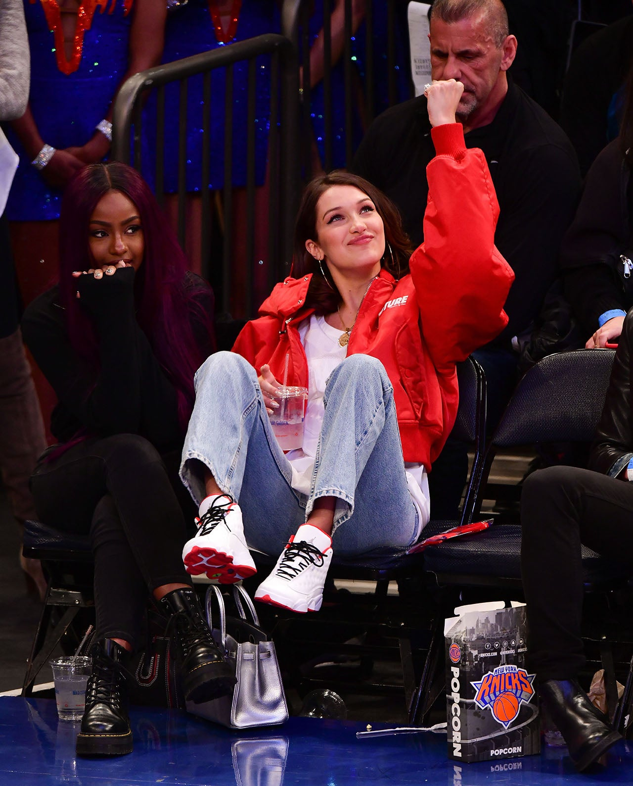 Bella Hadids Hilarious Courtside Facial Expressions Are
