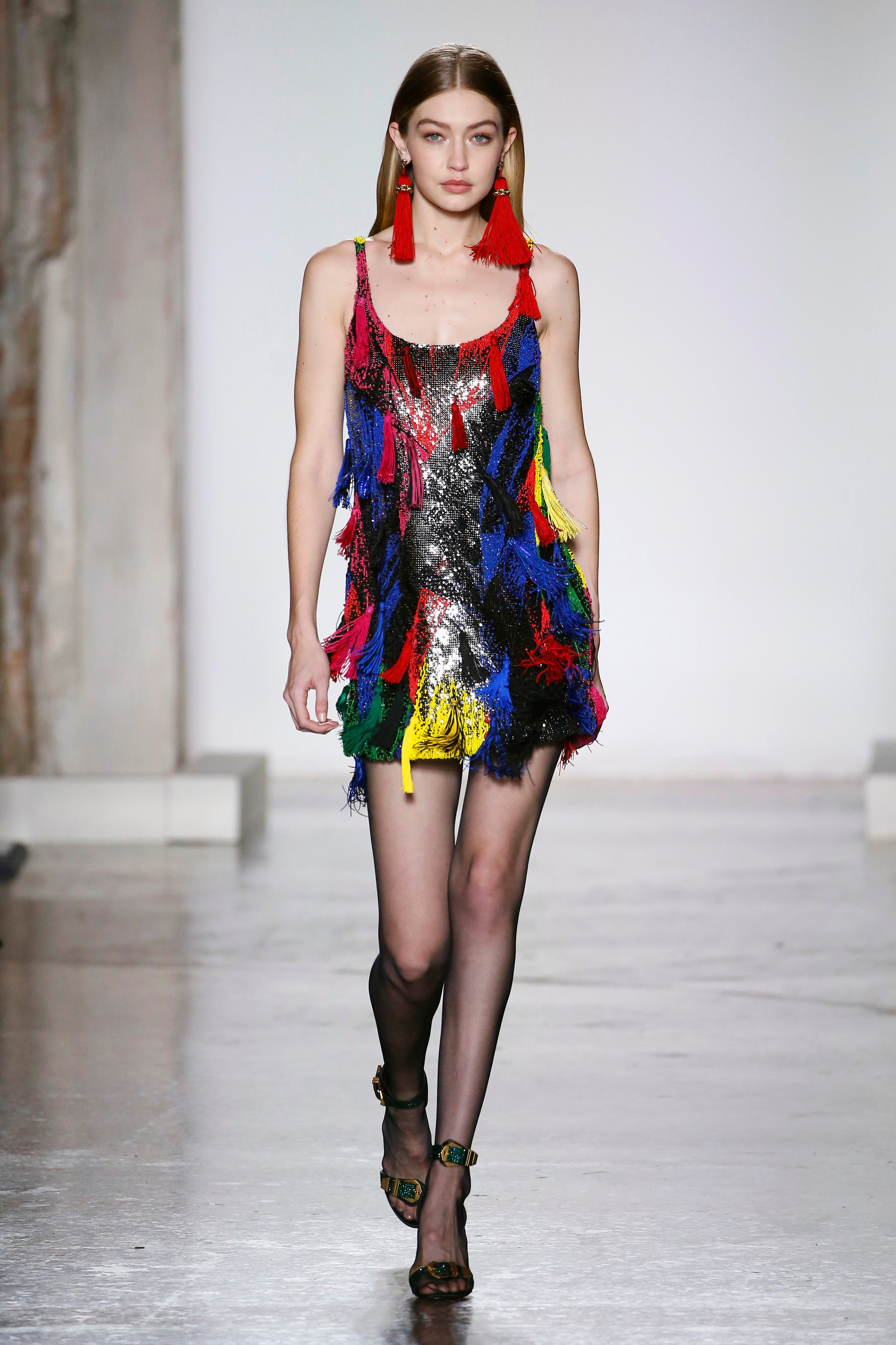 7515f5b3cfe620 Gigi Hadid Dominates Milan Fashion Week Runways -- See Her Fierce Looks