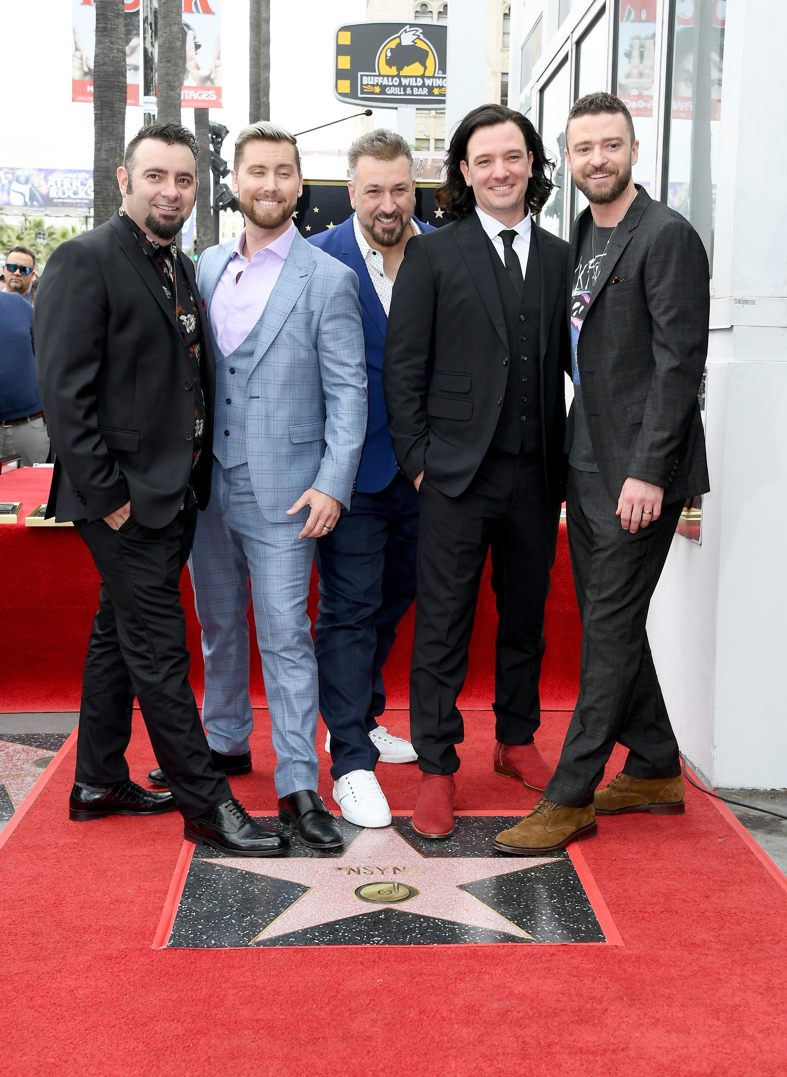 Nsync Reunites To Receive Star On The Hollywood Walk Of Fame