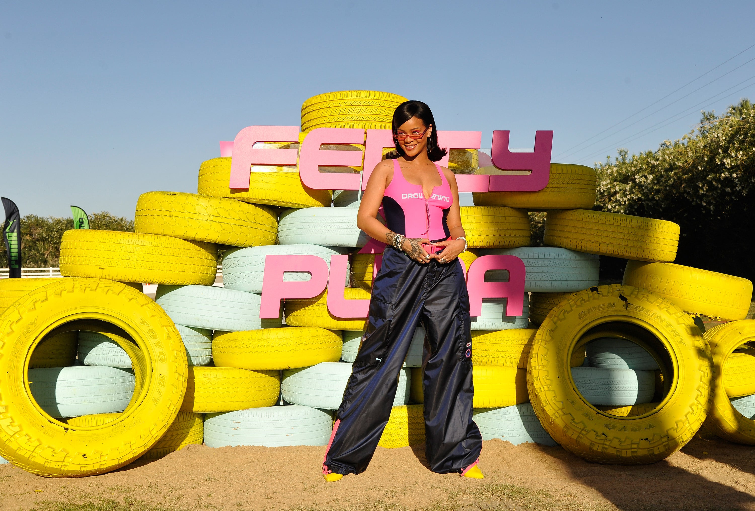Rihanna Commands Attention at Coachella Party -- See the Pics