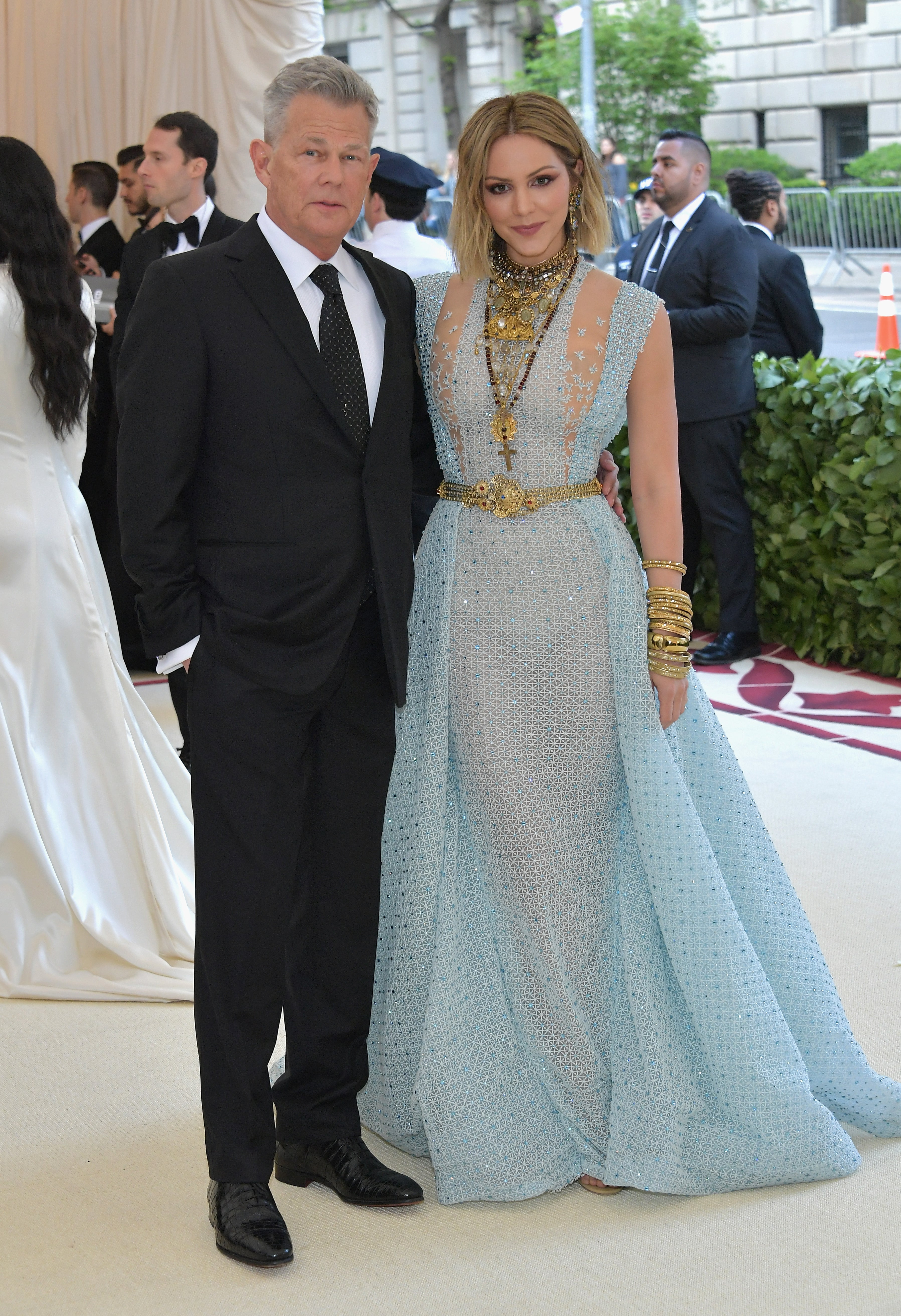 Katharine Mcphee And David Foster Make Met Gala Debut As A Couple With A Nice Date Night Exclusive Entertainment Tonight