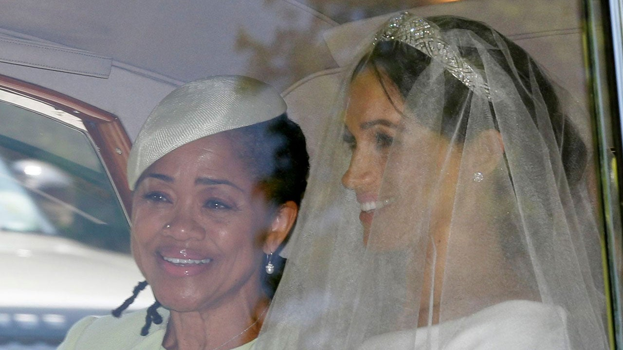 meghan markle wears dazzling tiara while marrying prince harry entertainment tonight meghan markle wears dazzling tiara