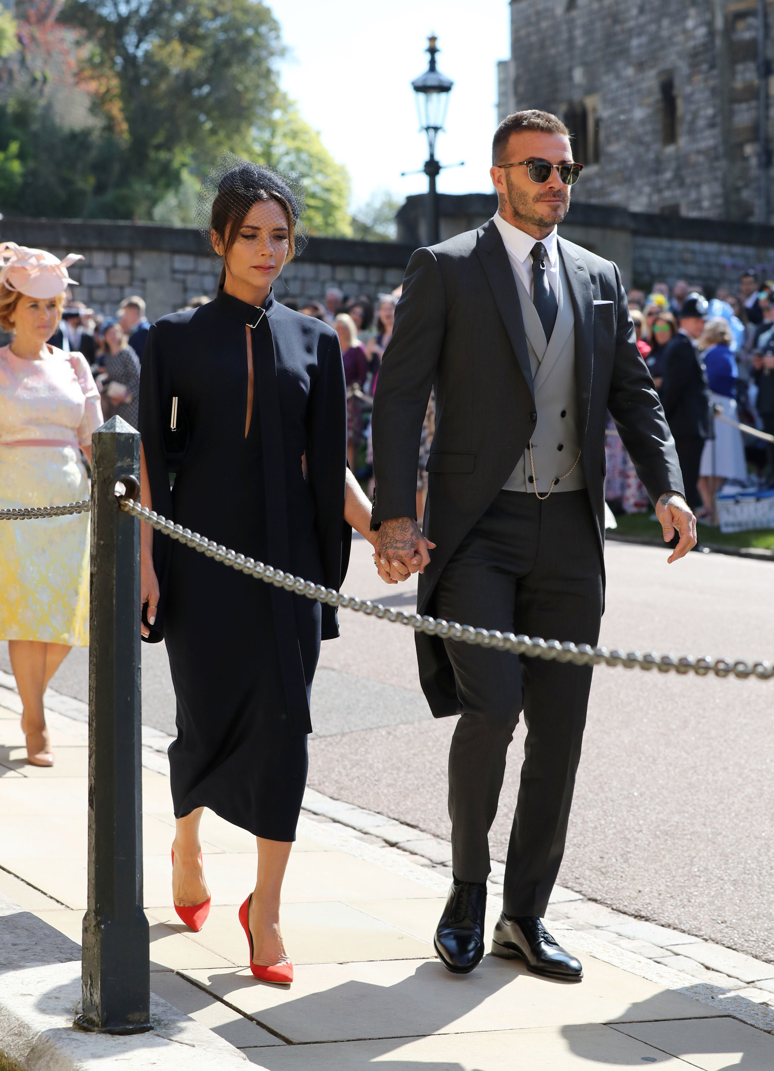 388daf0bd8a David and Victoria Beckham Make Glamorous Arrival at Royal Wedding ...
