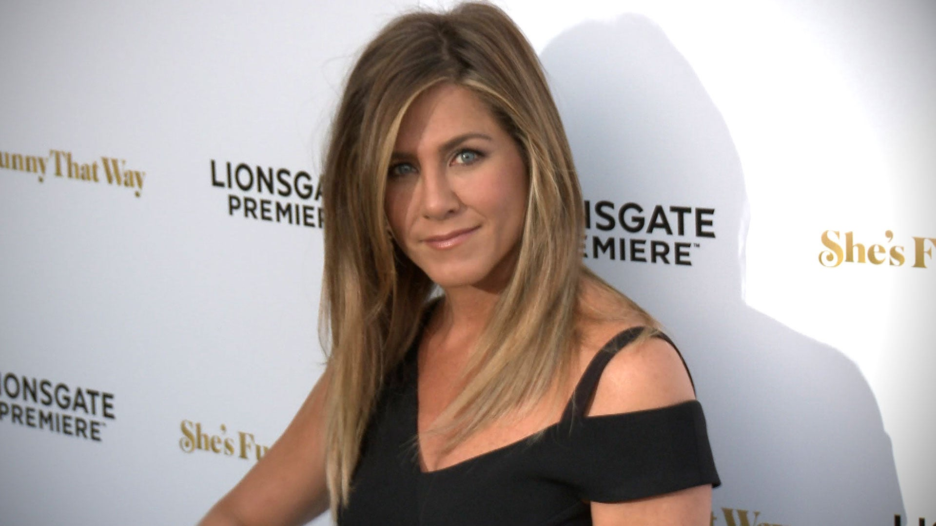 Jennifer Aniston Slays On Set In A Fancy Red Jumpsuit She Would