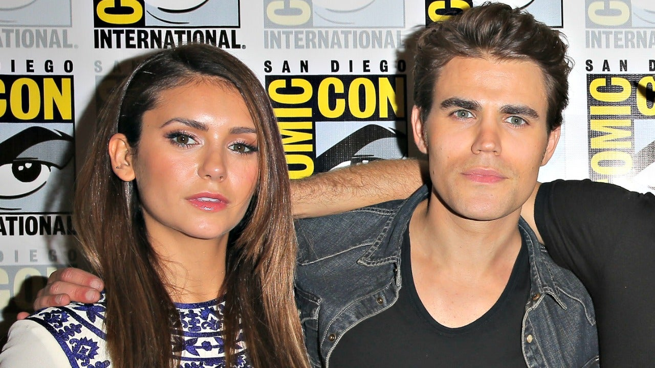 Paul Wesley Surprising Nina Dobrev On The Set Of Her New Show Is Everything Watch Entertainment Tonight