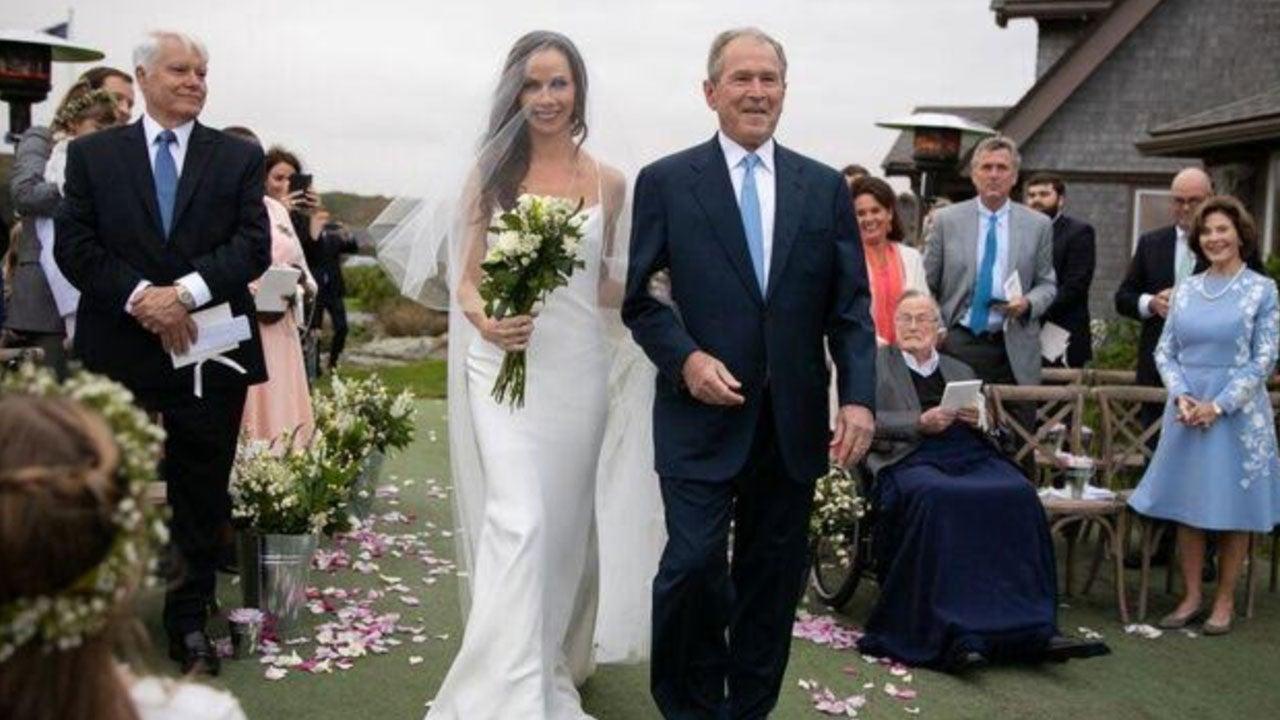 Barbara Bush Stuns In Vera Wang Dress for Her Wedding to Craig Coyne ...