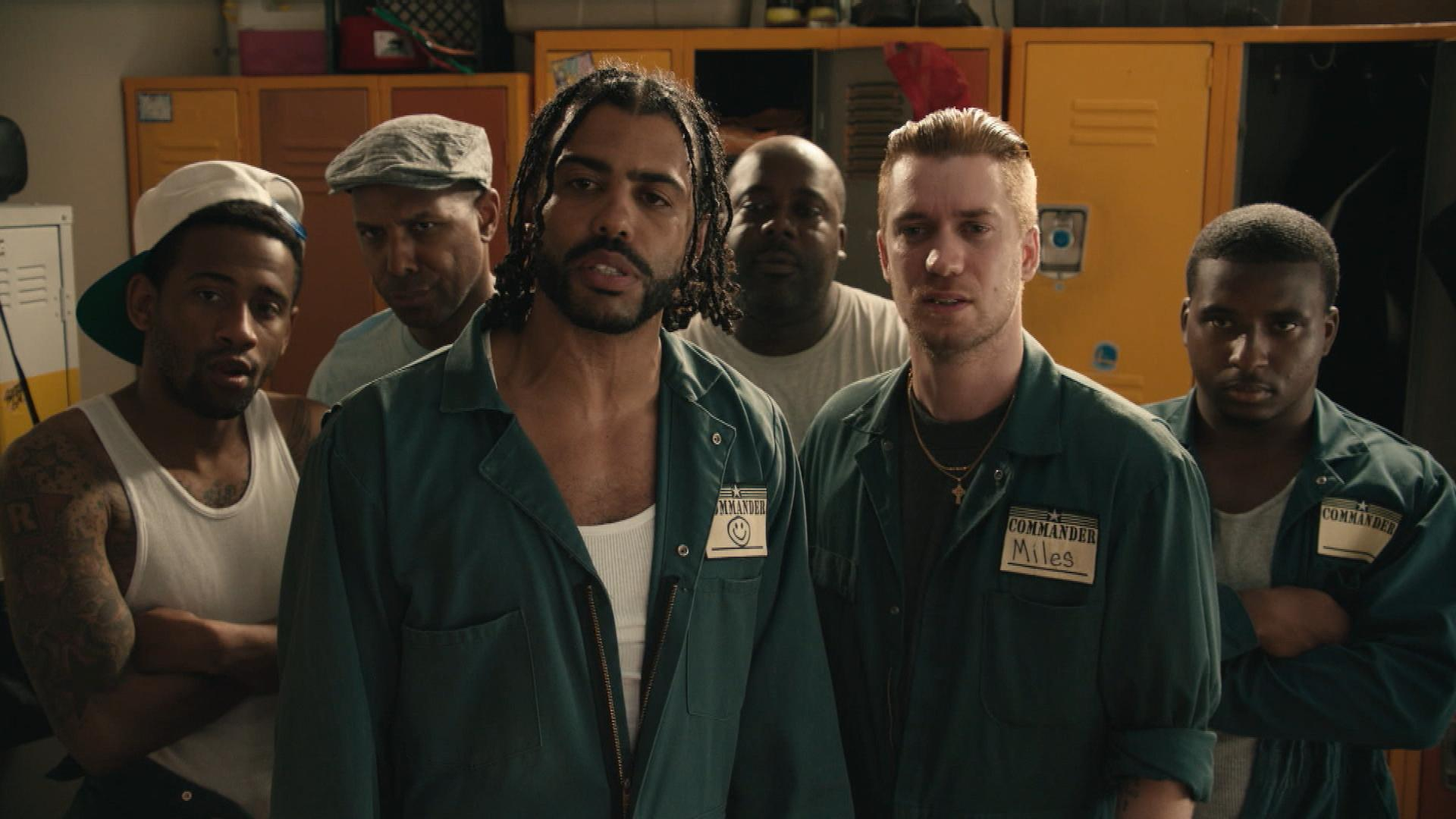 Daveed Diggs And Rafael Casal Will Kill You If You Wear A Lakers Jersey In Blindspotting Deleted Scene Entertainment Tonight
