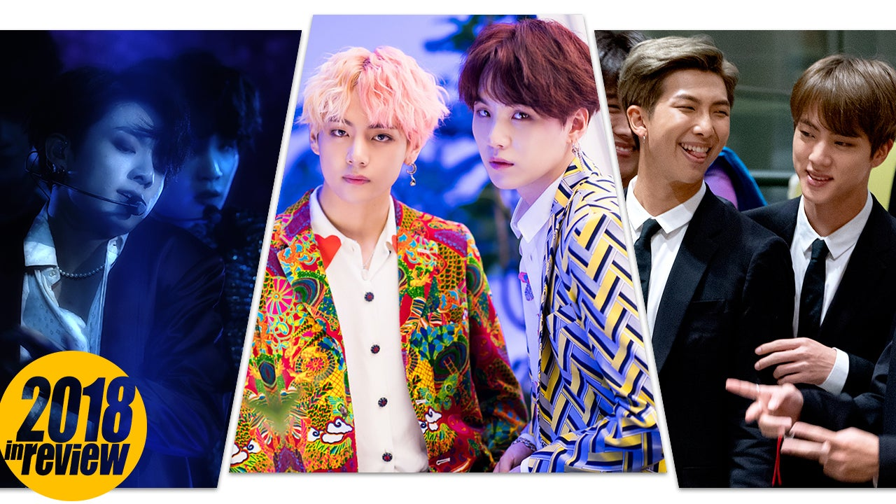 6f0cc229d BTS' Big 2018: 11 Times the K-Pop Boy Band Broke Records and Made History |  Entertainment Tonight
