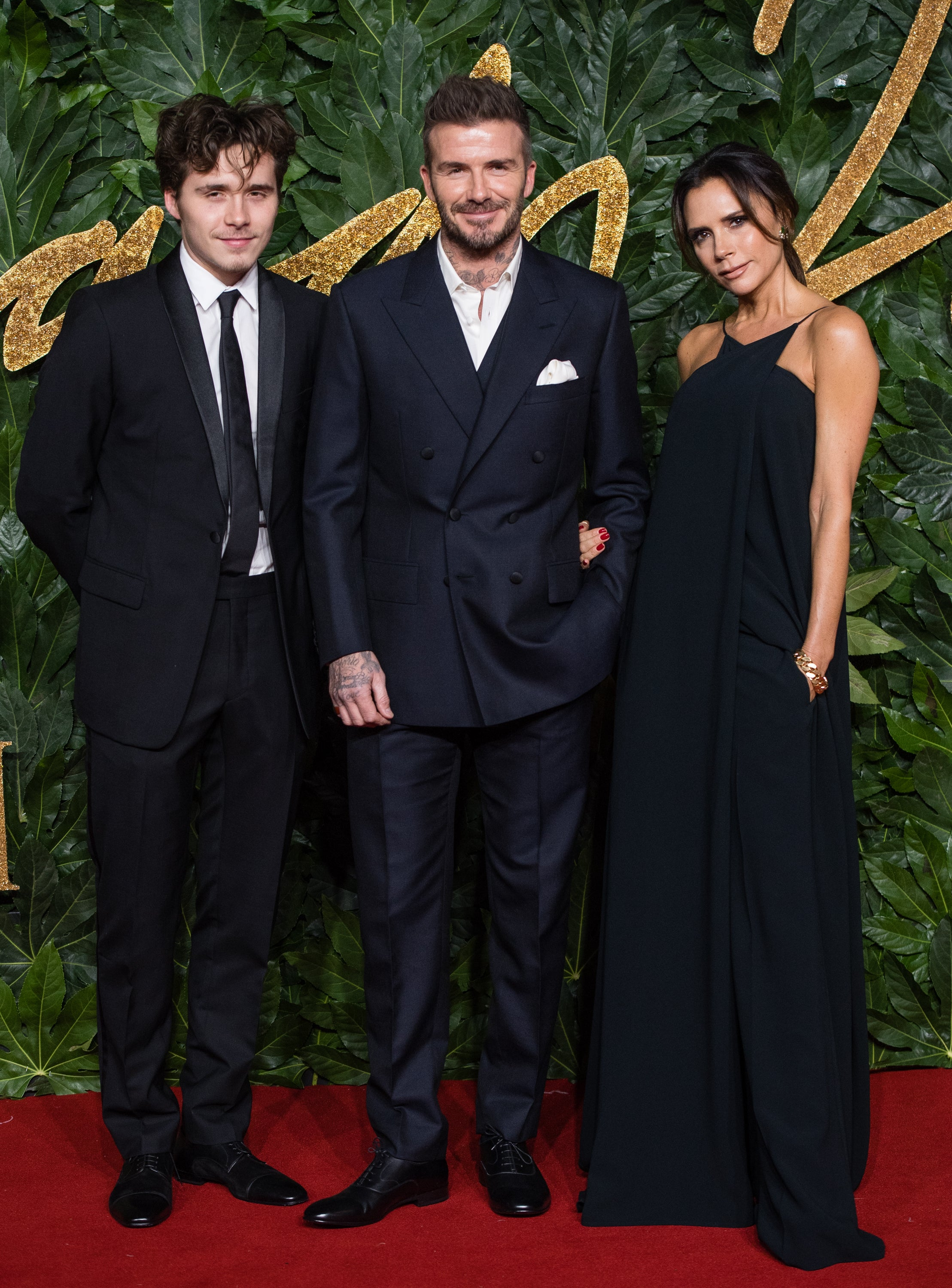 Victoria and David Beckham Bring Brooklyn Out For a Fashion Awards Family  Night  2e08285ac