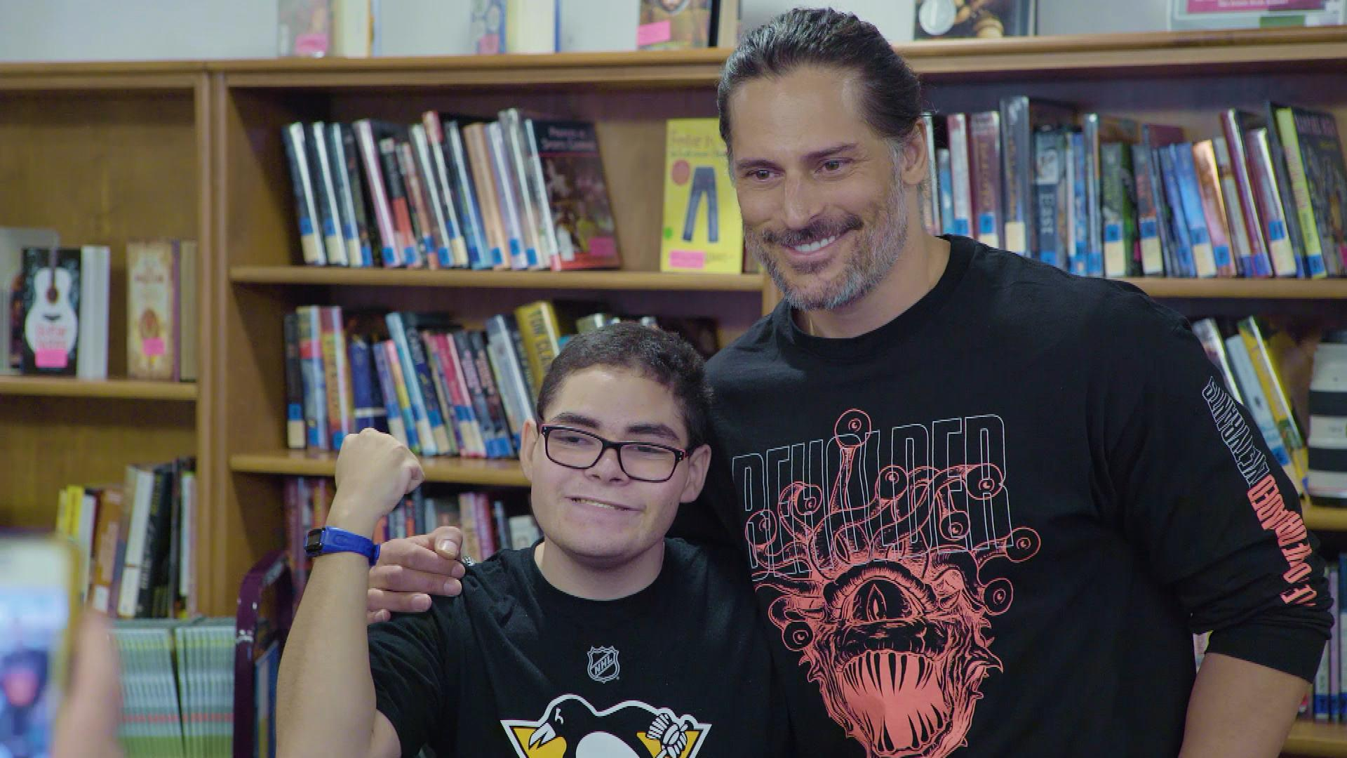 Joe Manganiello Helps 'Kids Be Kids' With Dungeons & Dragons at Children's Hospital of Pittsburgh (Exclusive)