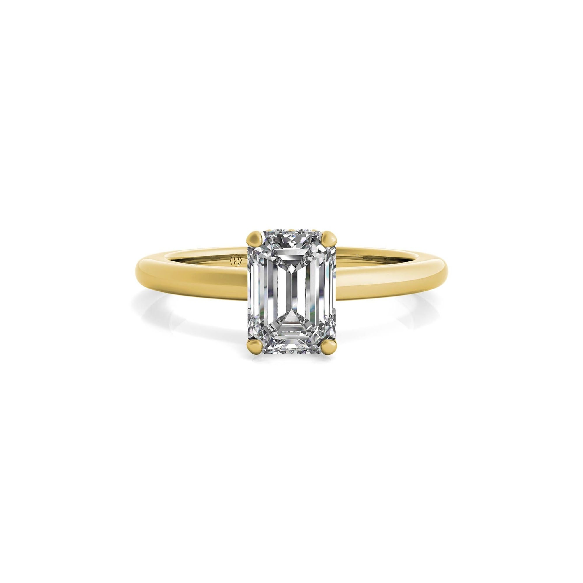 Ritani emerald cut engagement ring