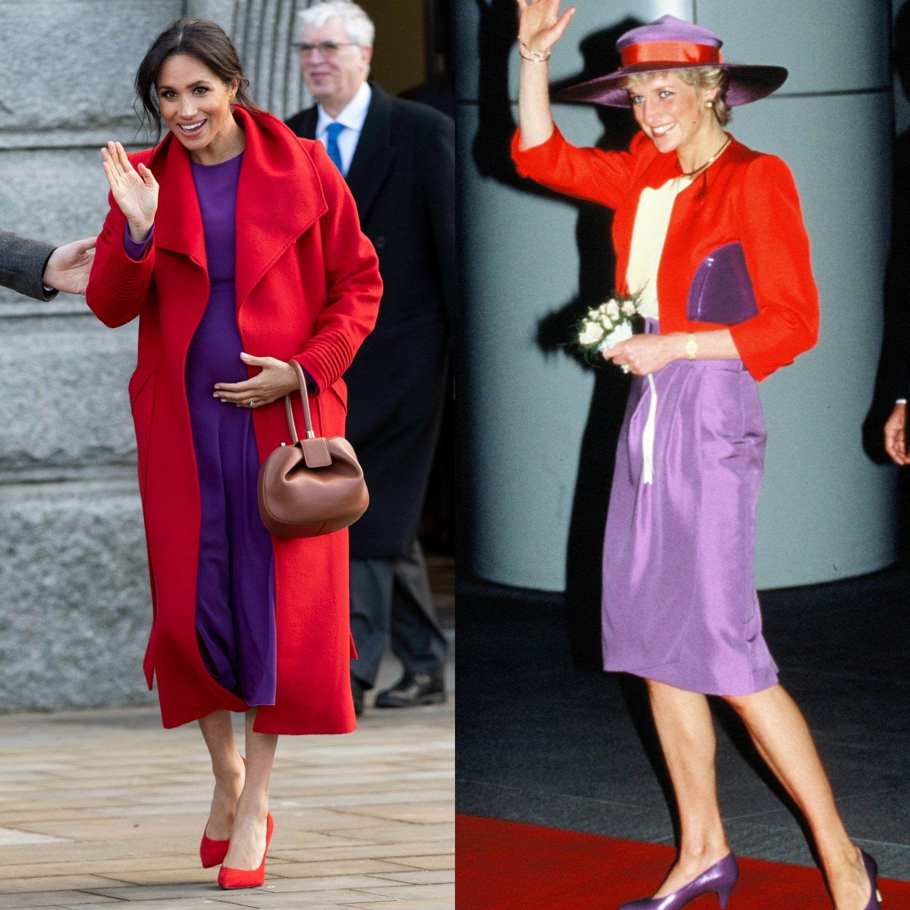10 times meghan markle modeled her pregnancy style after princess diana entertainment tonight 10 times meghan markle modeled her