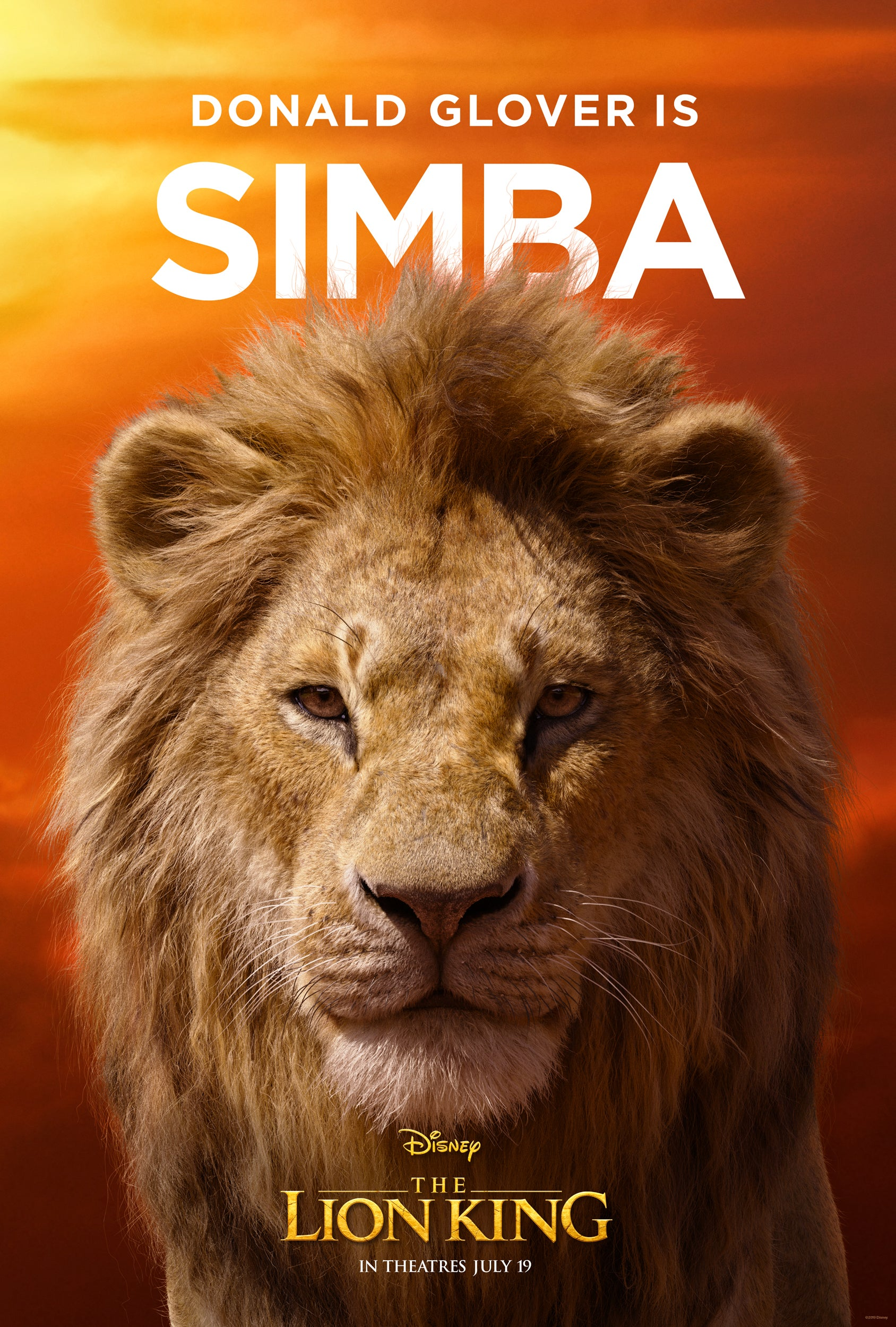 The Lion King Posters Provide A New Look At Donald Glover S Simba Beyonce S Nala And More Entertainment Tonight