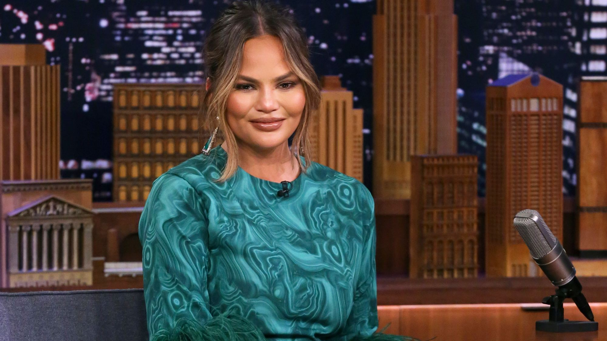 Chrissy Teigen's Mom Steals Her Look and Hilariously Asks Fans Who Wore It Best