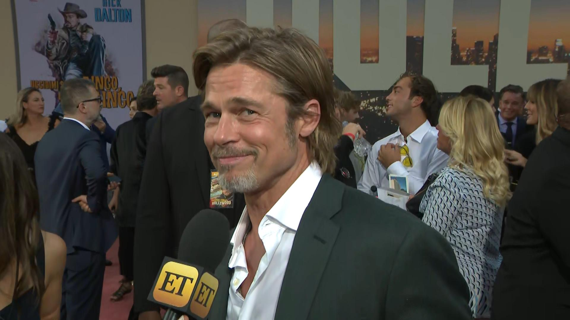 Brad Pitt Says Leonardo DiCaprio Throws 'Best Tantrums Ever' in 'Once Upon a Time in Hollywood' (Exclusive)