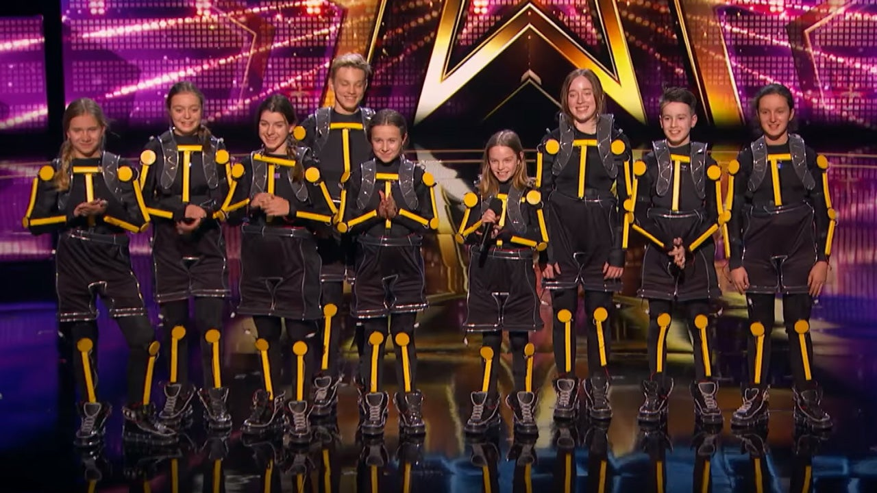 'America's Got Talent': Young LED Dance Group Snag Golden Buzzer From Guest Judge Ellie Kemper