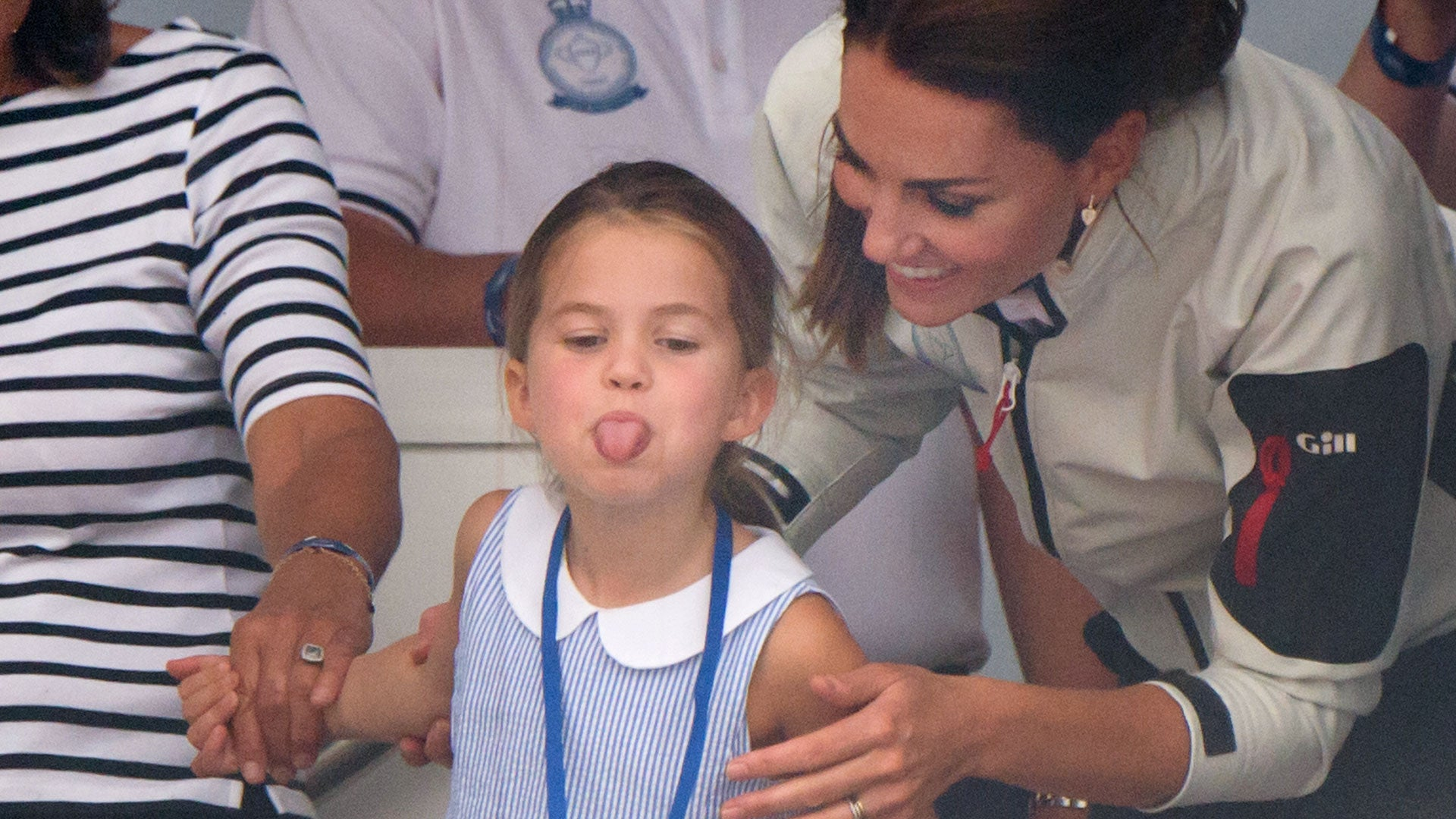 Princess Charlotte Sticks Her Tongue Out at King's Cup Regatta Reporters