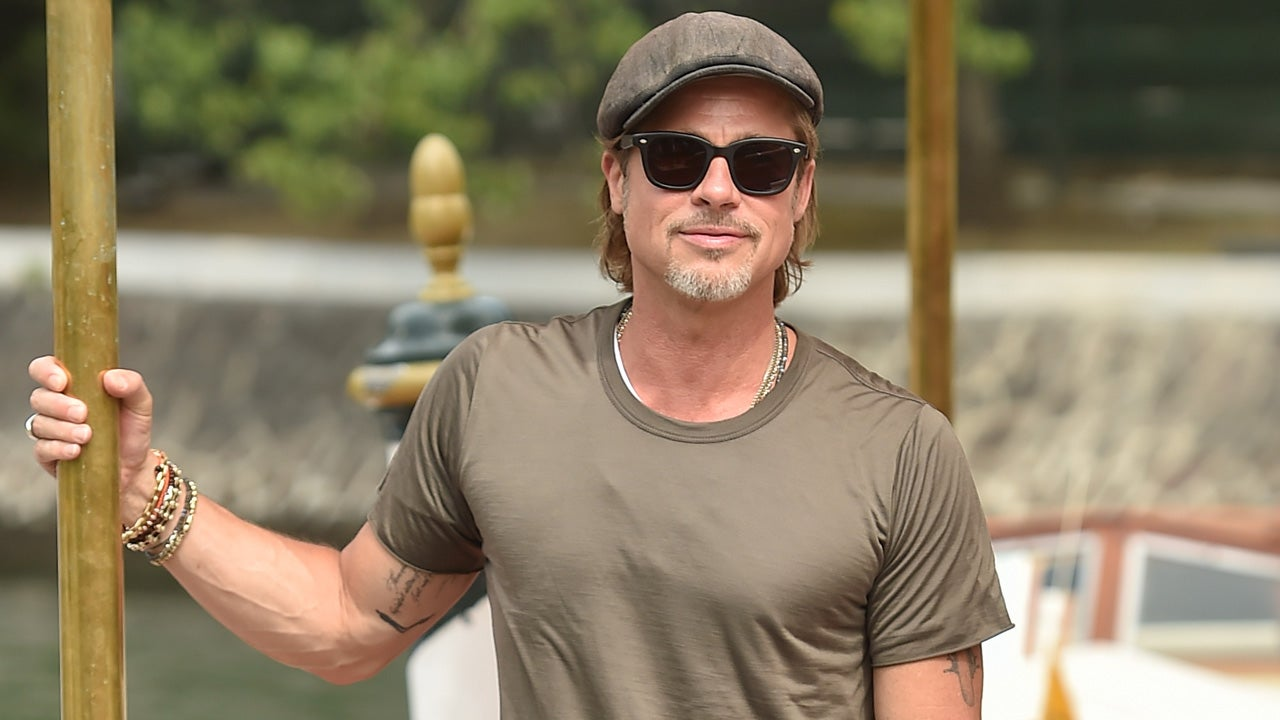 Brad Pitt Appears to Have a New Tattoo Next to His Angelina Jolie Ink