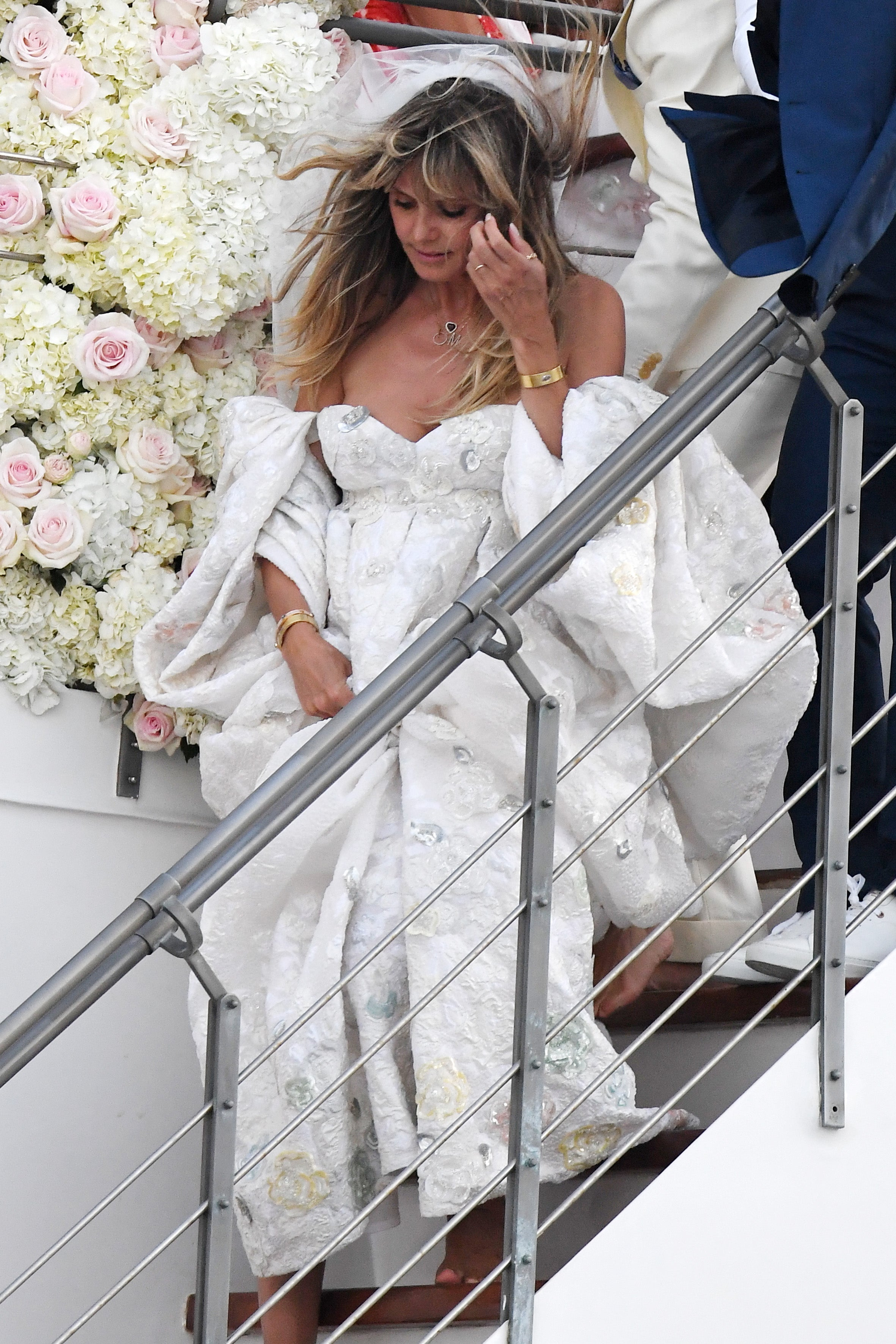 Heidi Klum Glows In Billowing Gown For Her And Tom Kaulitz S Italian