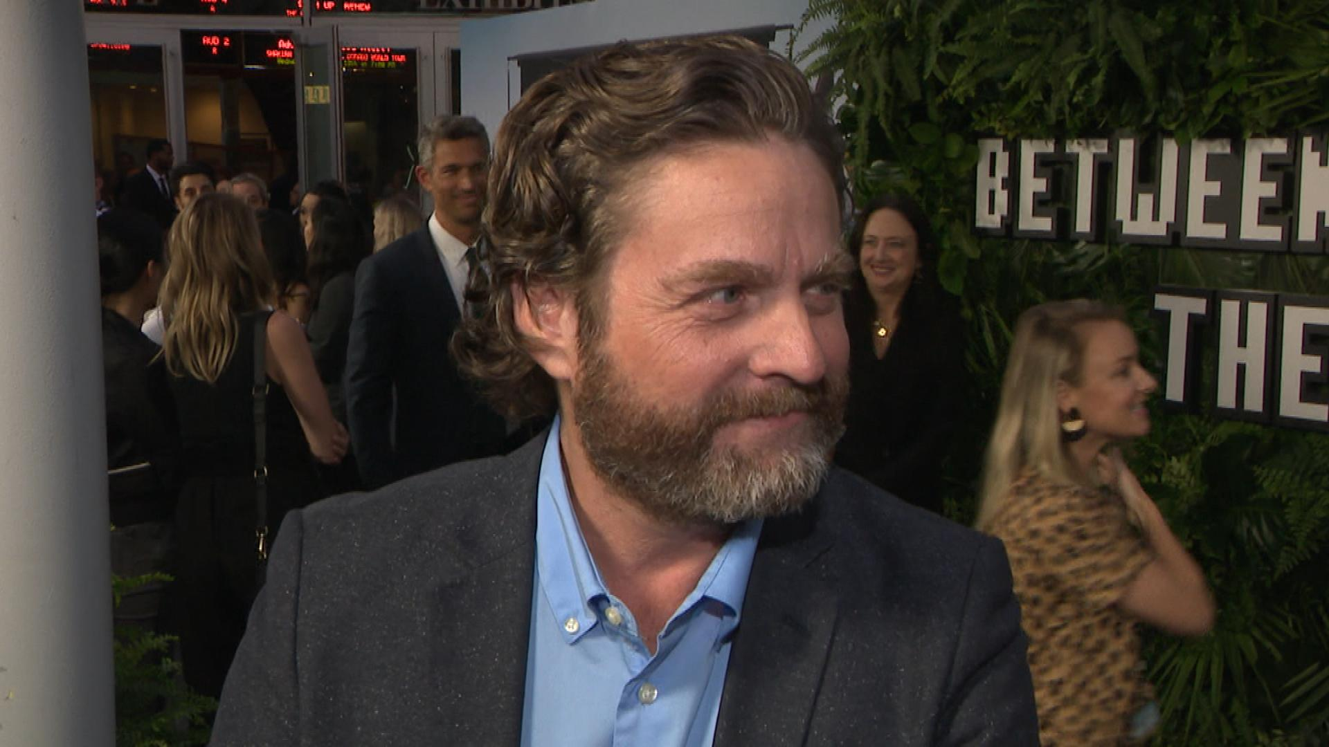 Zach Galifianakis Eats Cake While Discussing 'Between Two Ferns: The Movie'