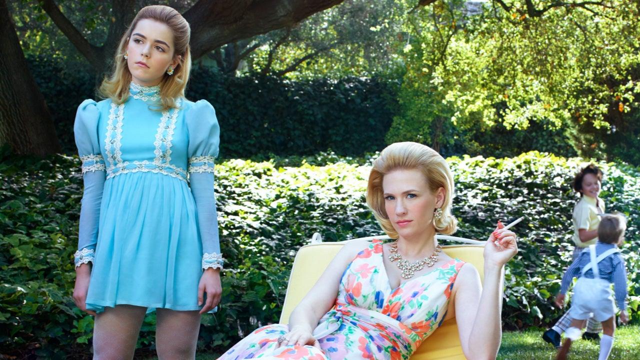 'Mad Men' Stars January Jones and Kiernan Shipka Reunite for a Gorgeous Mother-Daughter Photo Shoot