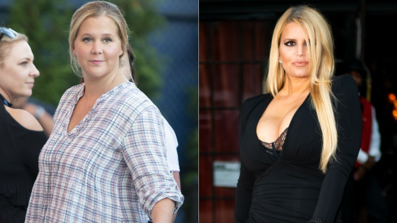 Amy Schumer Jokes About Her Own Post-Baby Weight Loss in Comparison to Jessica Simpson