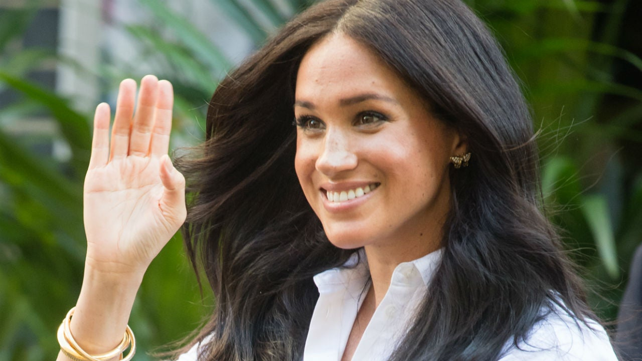 Meghan Markle Is All Smiles While Picking Up a Friend at the Airport