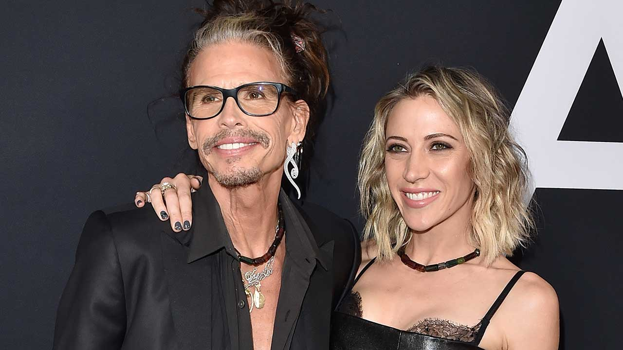 Steven Tyler Packs on PDA With Younger Girlfriend at Daughter Liv's 'Ad Astra' Premiere