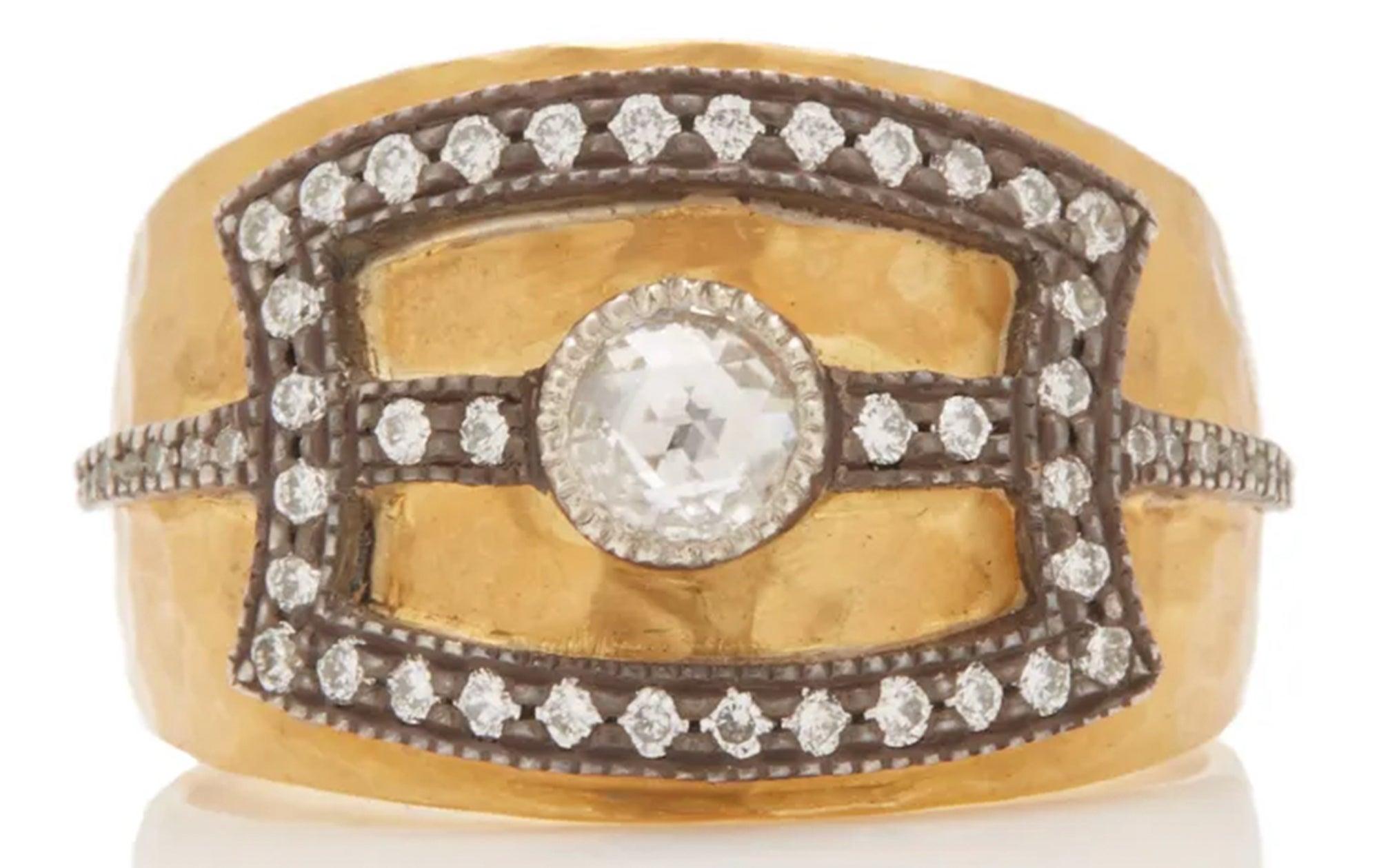 Arman Sarkisyan 22k Gold and Diamond Deco Cigar Band