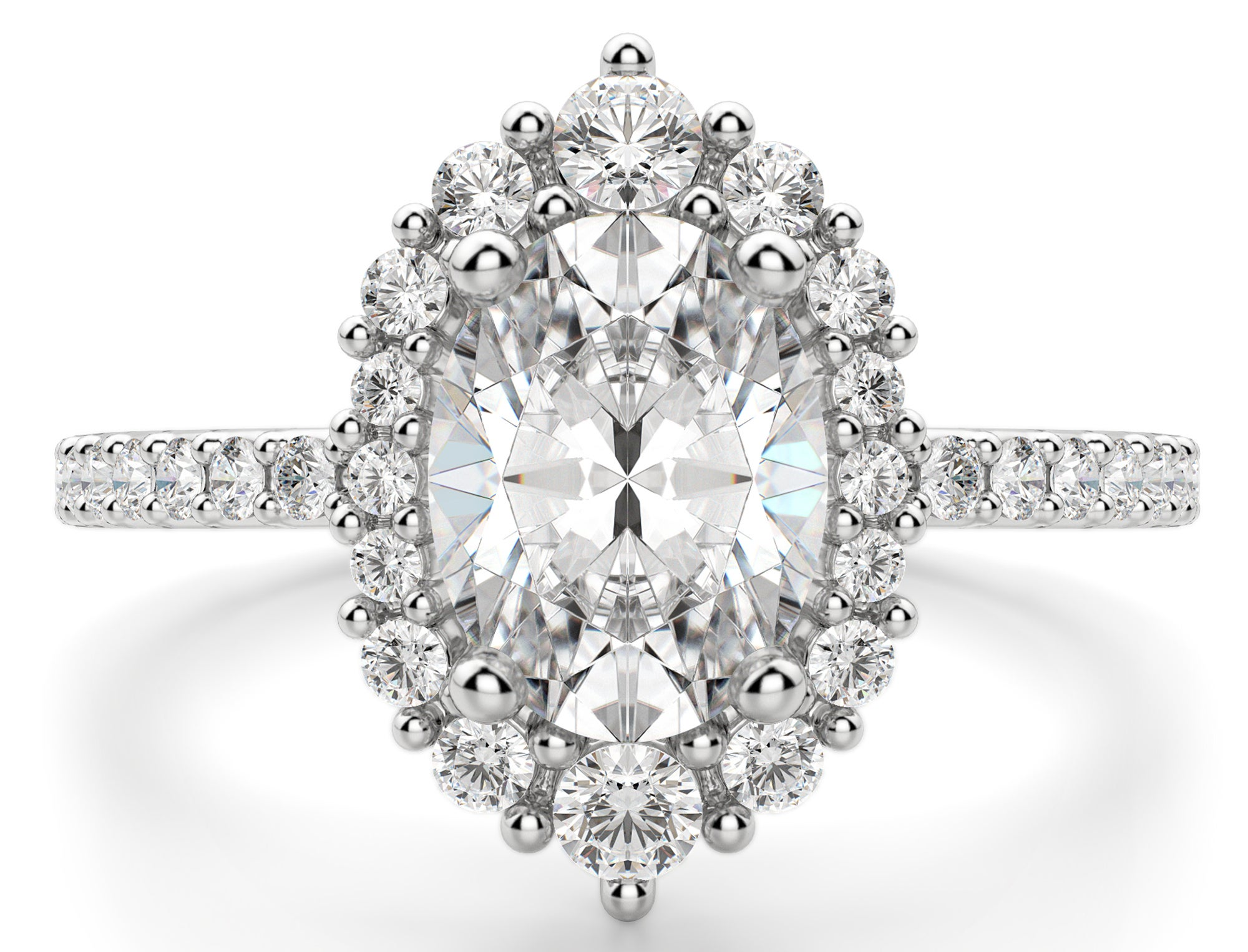 Diamond Nexus Barcelona Oval Cut Engagement Ring