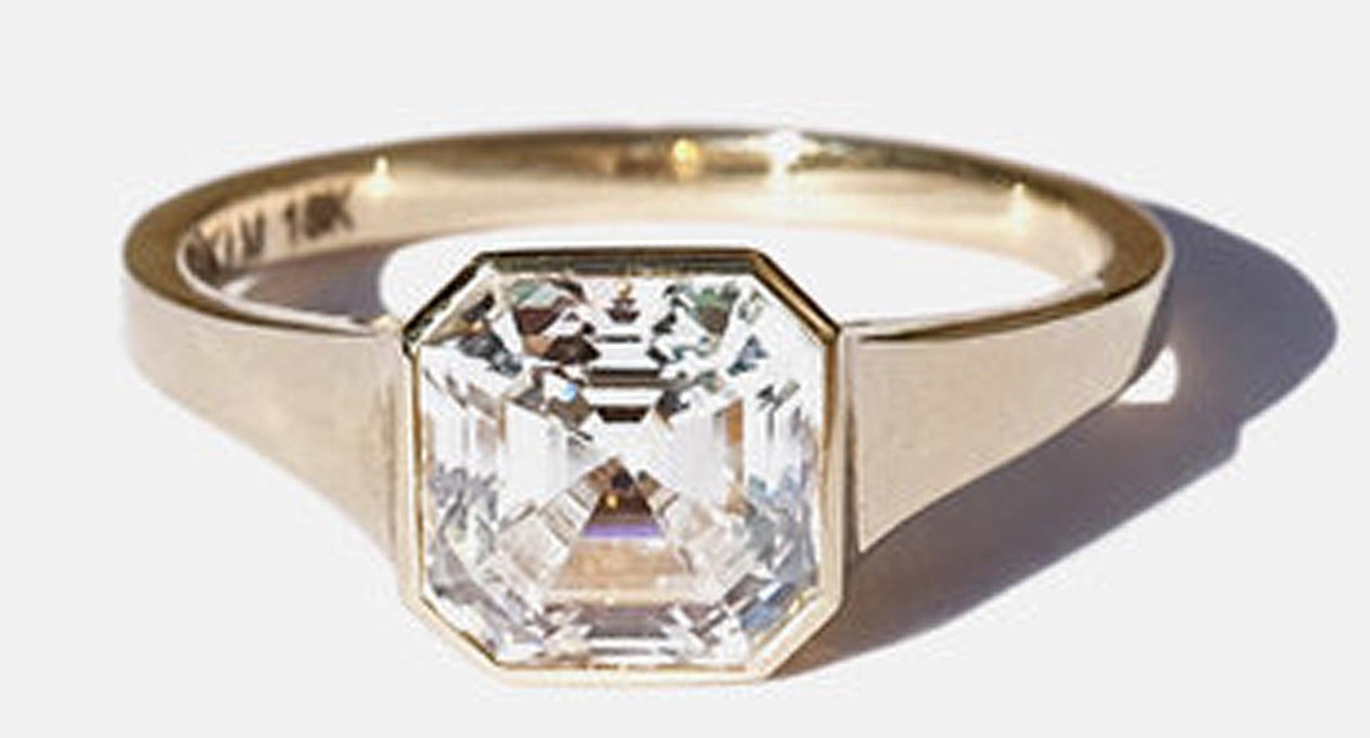 KatKim Asscher Diamond Cosma Ring