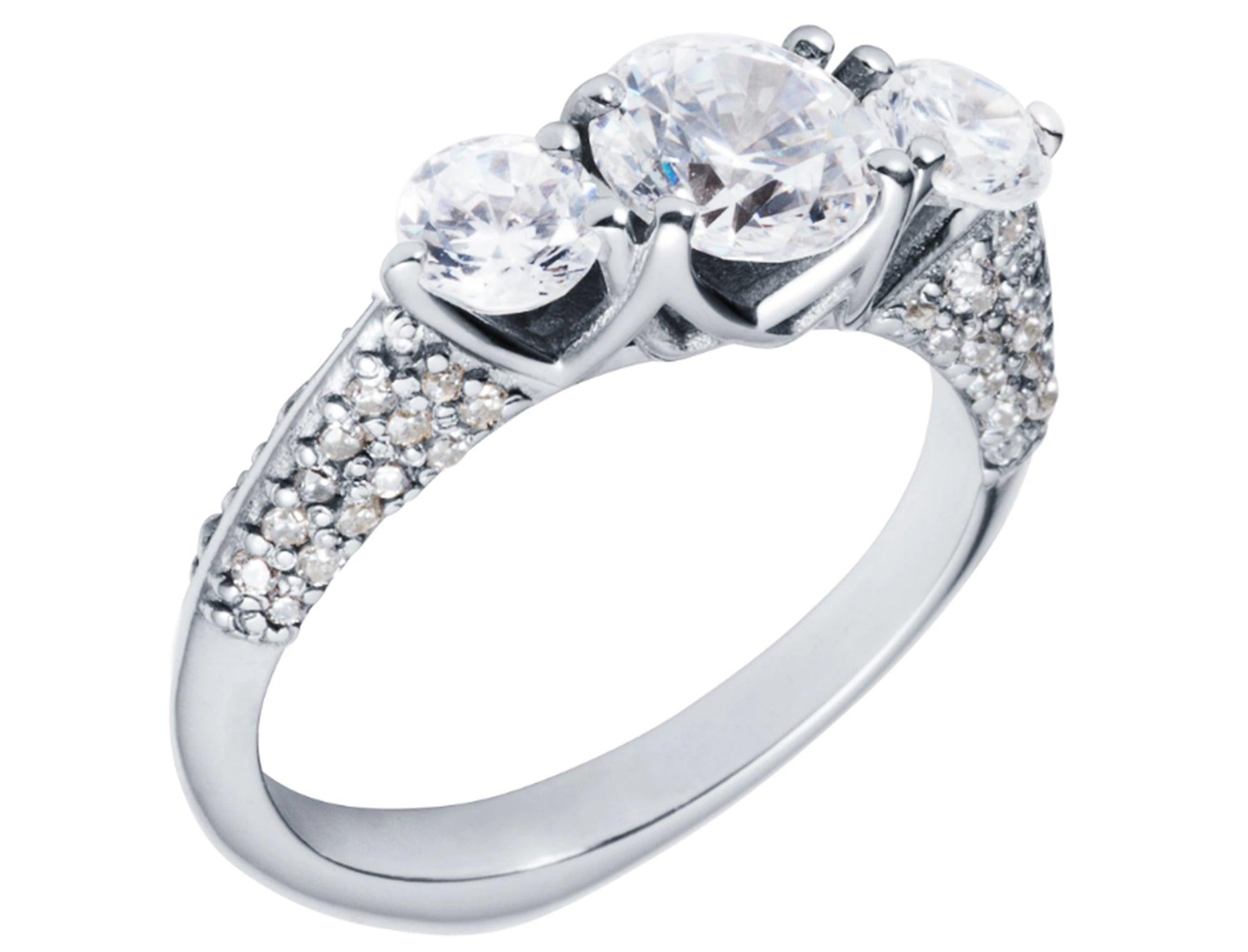 Lark & Berry Full Diamond Trio Ring