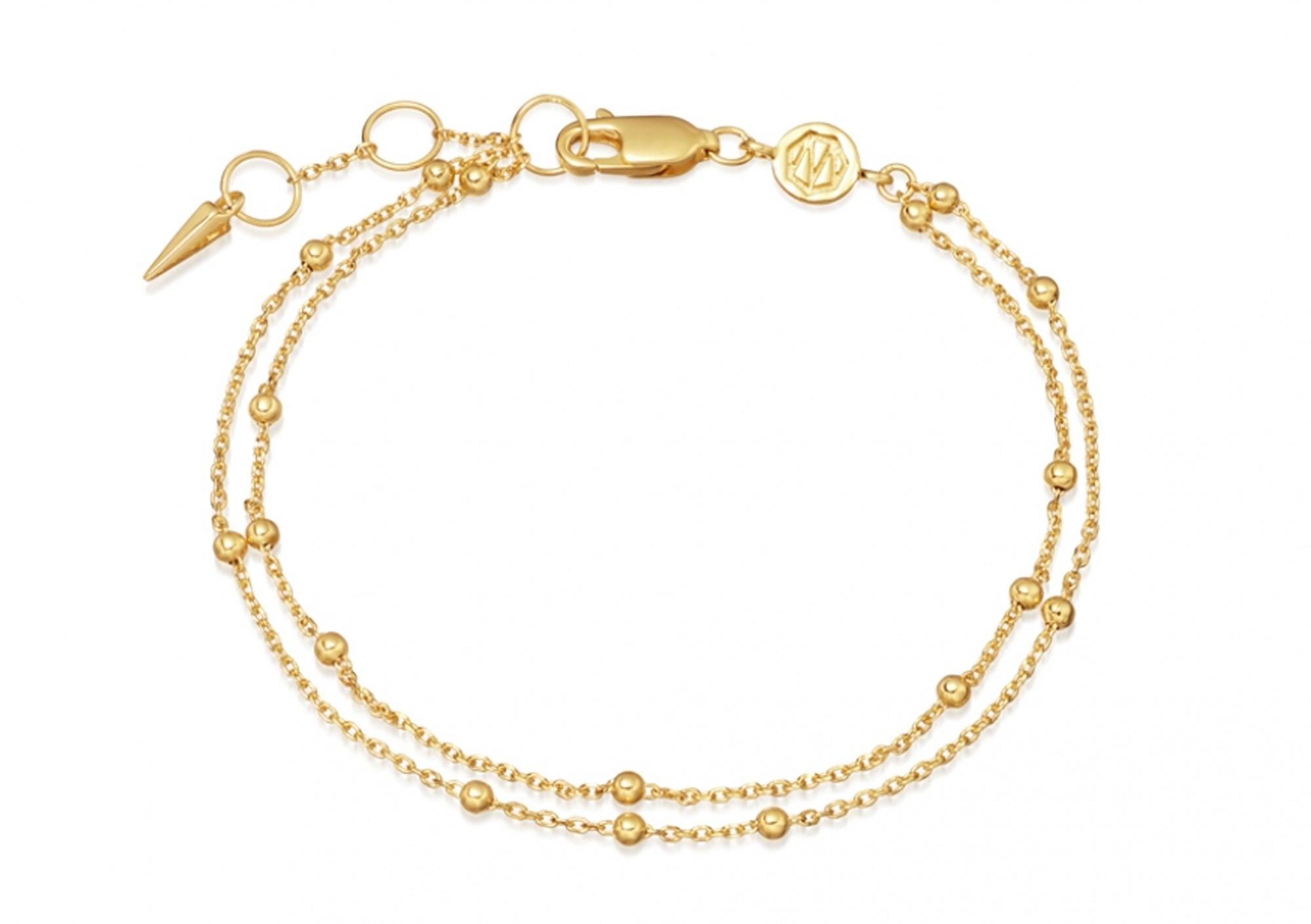 Missoma Gold Double Chain Bracelet