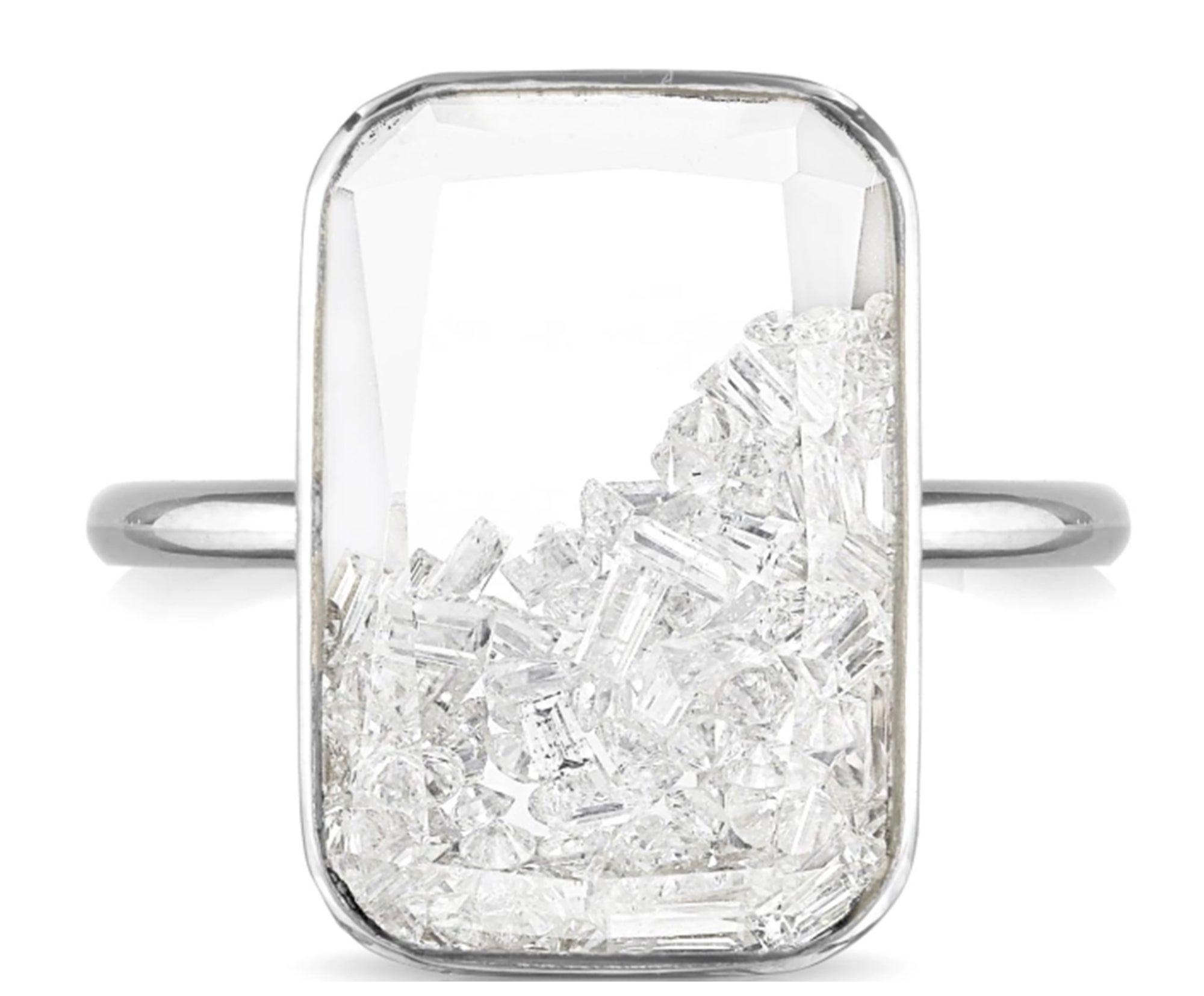 Moritz Glik Ten-Fourteen Diamond Shaker Ring