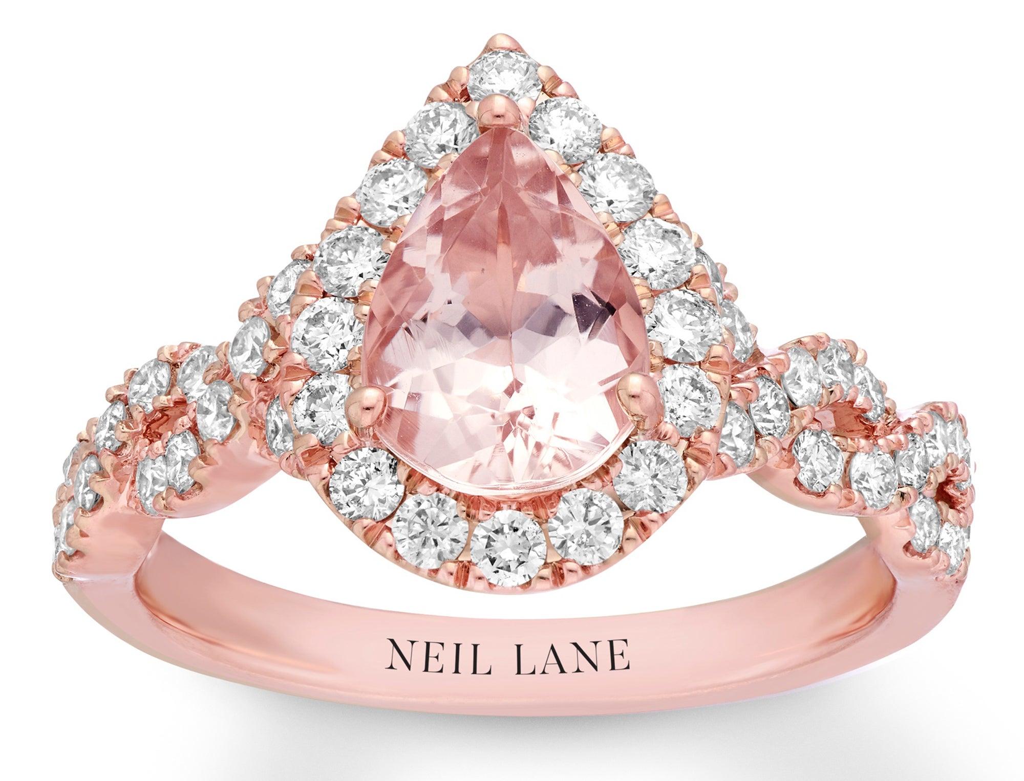 Neil Lane 14k Gold Morganite Engagement Ring