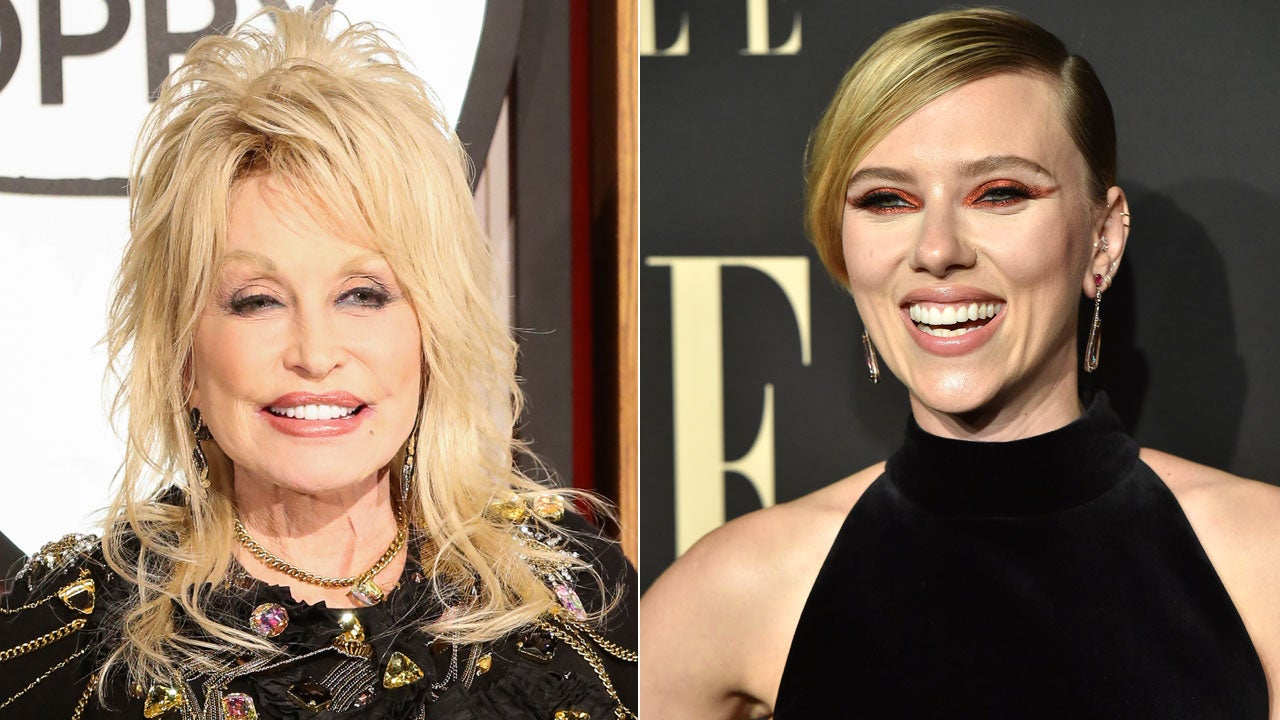 Scarlett Johansson Reacts to Dolly Parton Wanting Her to Portray Her in a Biopic (Exclusive)