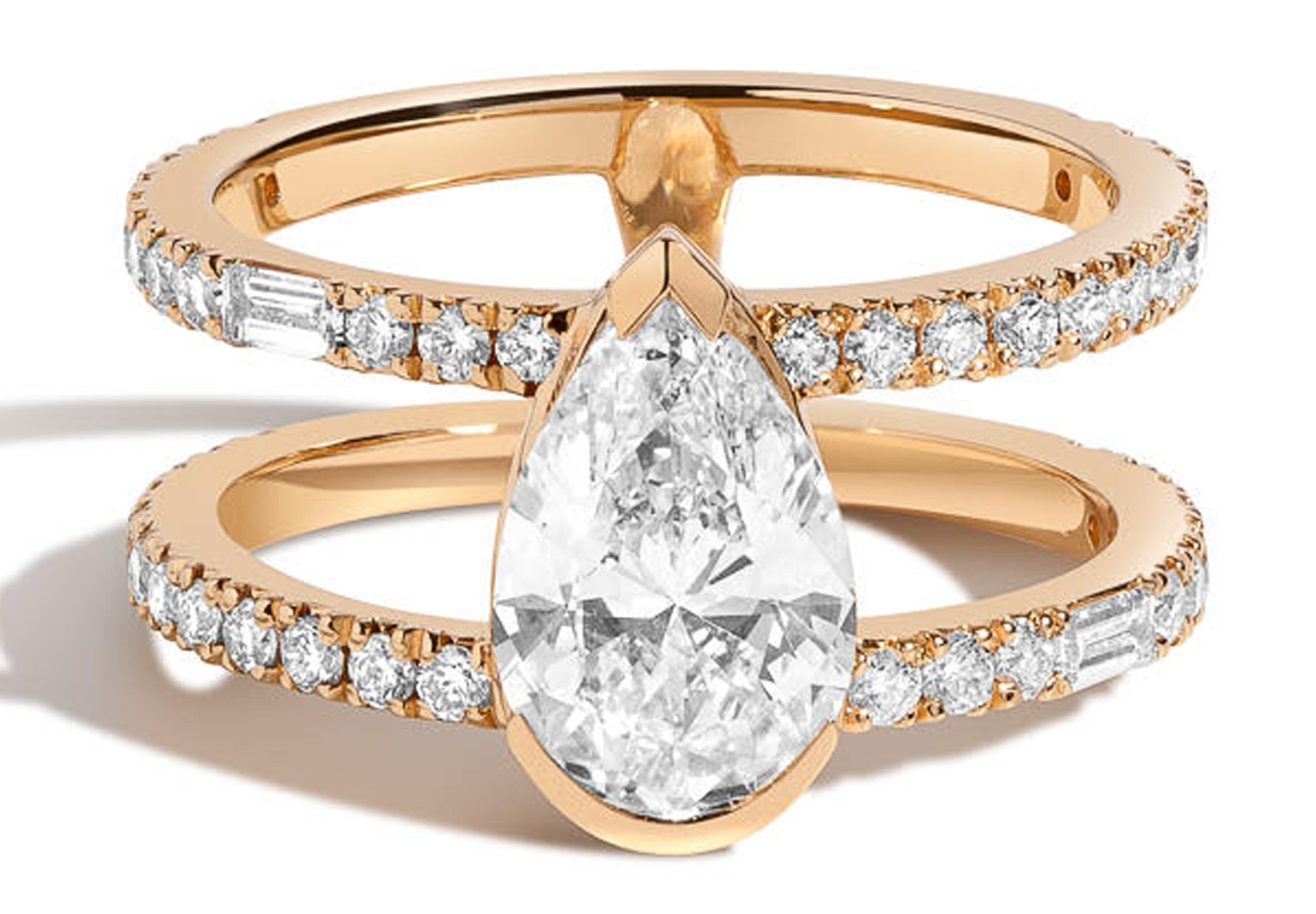 Shahla Karimi pear double band ring