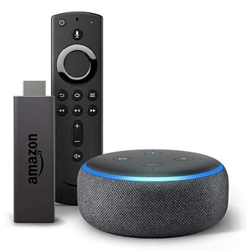 Amazon Fire TV Stick bundle with Echo Dot