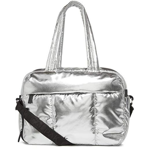 Celebrity Beauty: CALPAK Luka Duffel Bag Metallic Silver