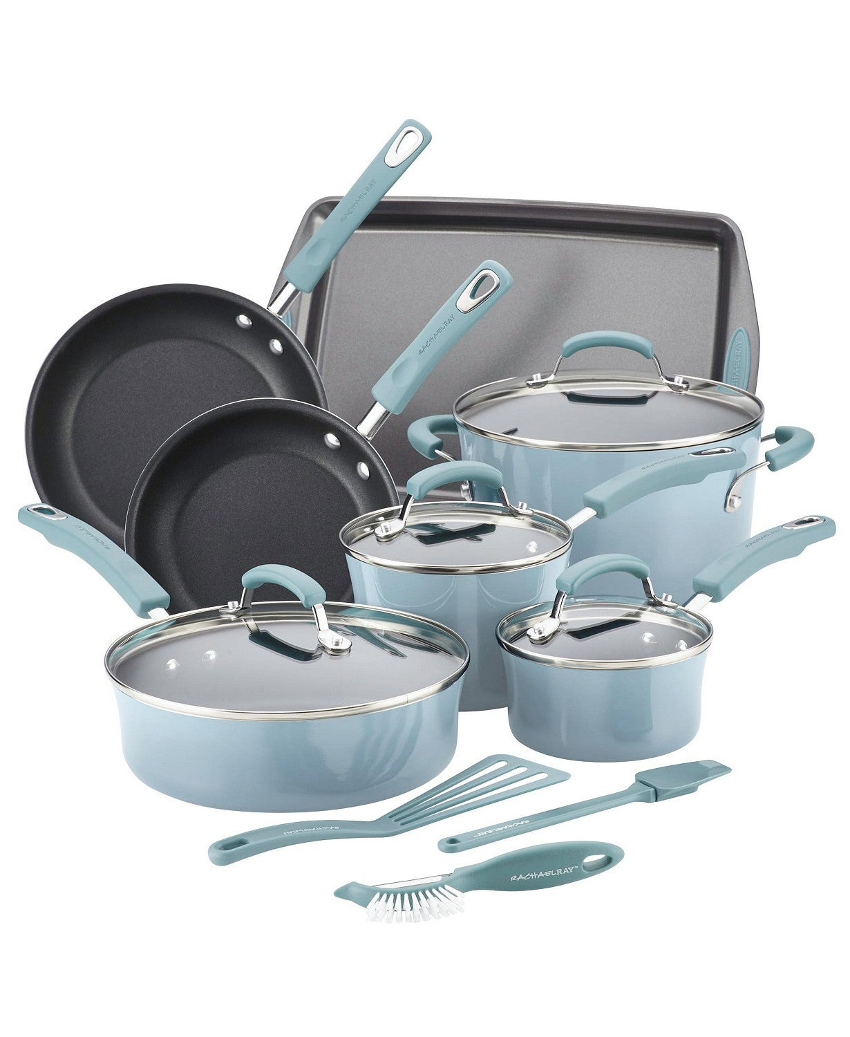 Rachael Ray 14-Pc. Nonstick Cookware Set