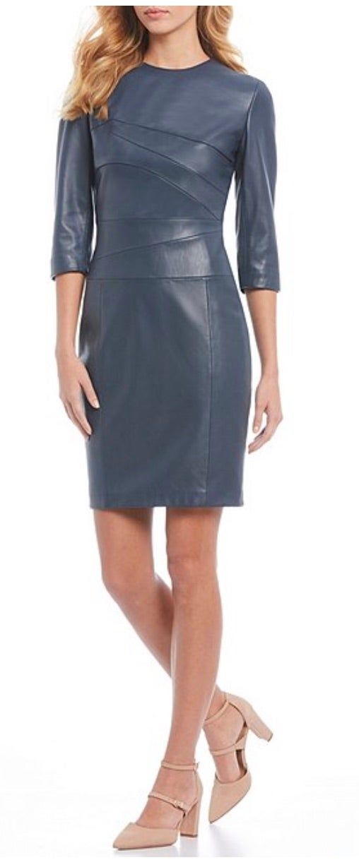 Antonio Melani Luxury Collection Abigail Genuine Leather Dress