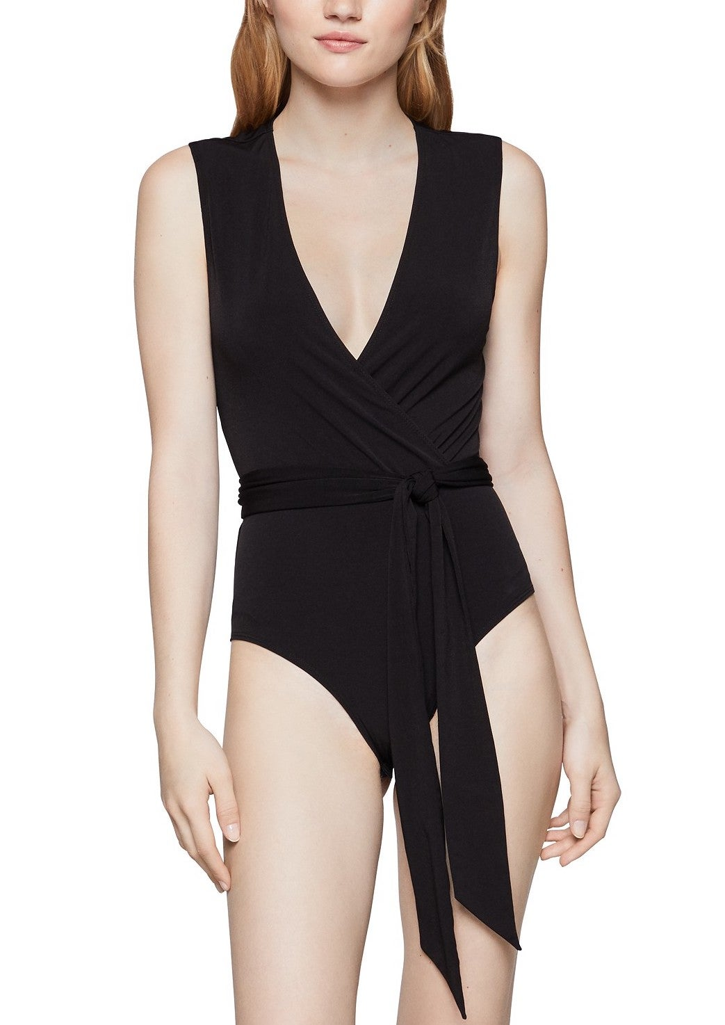 BCBGeneration Cutout Surplice Bodysuit