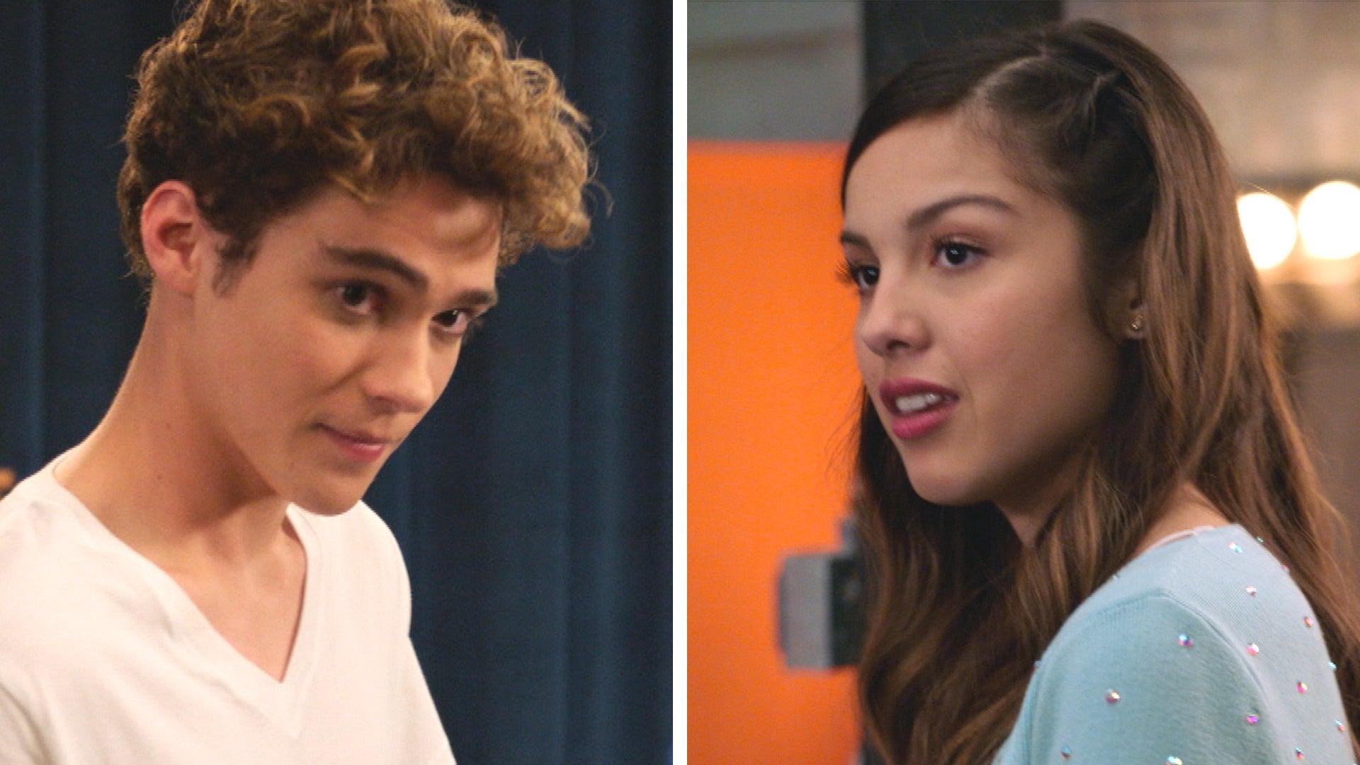 Hsm Tm Ts Stars Joshua Bassett And Olivia Rodrigo On Ricky And Nini Romance Exclusive Entertainment Tonight