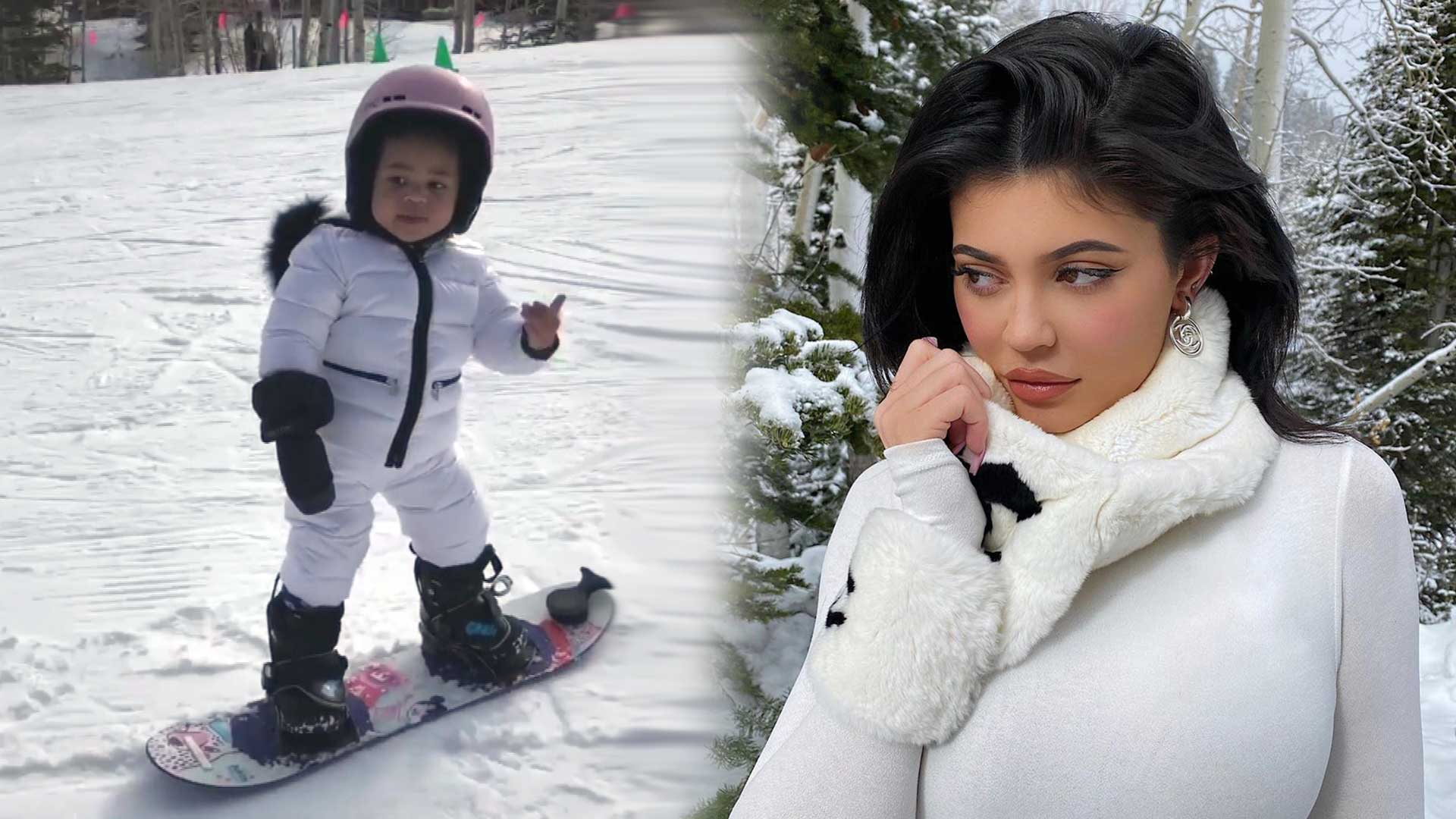 Kylie Jenner's Daughter Stormi Is Already Snowboarding at 22 Months -- Watch Her Hit the Slopes!