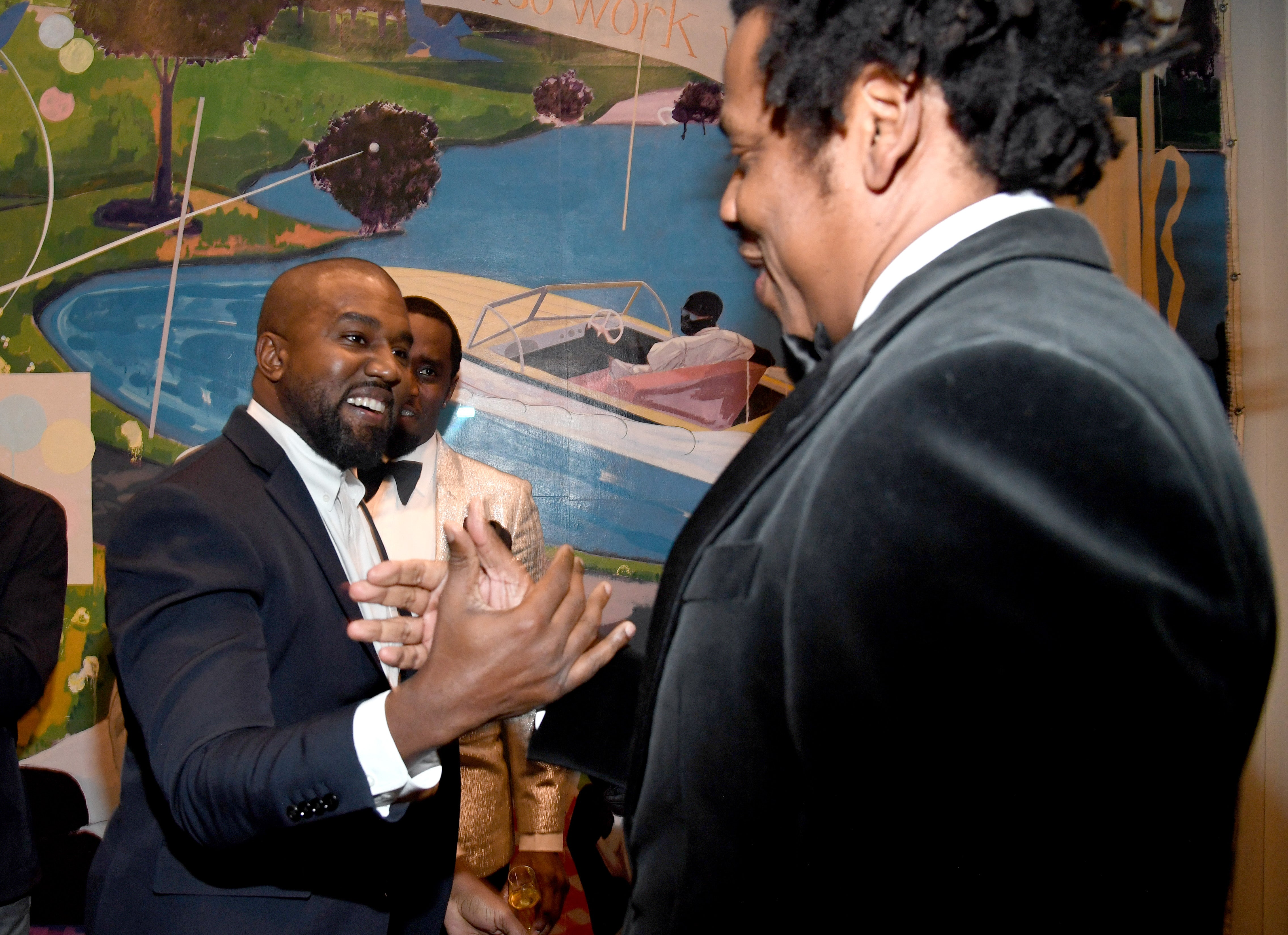 Kim Kardashian and Kanye West Reunite With Beyonce and JAY-Z at Sean 'Diddy' Combs' 50th Birthday Party